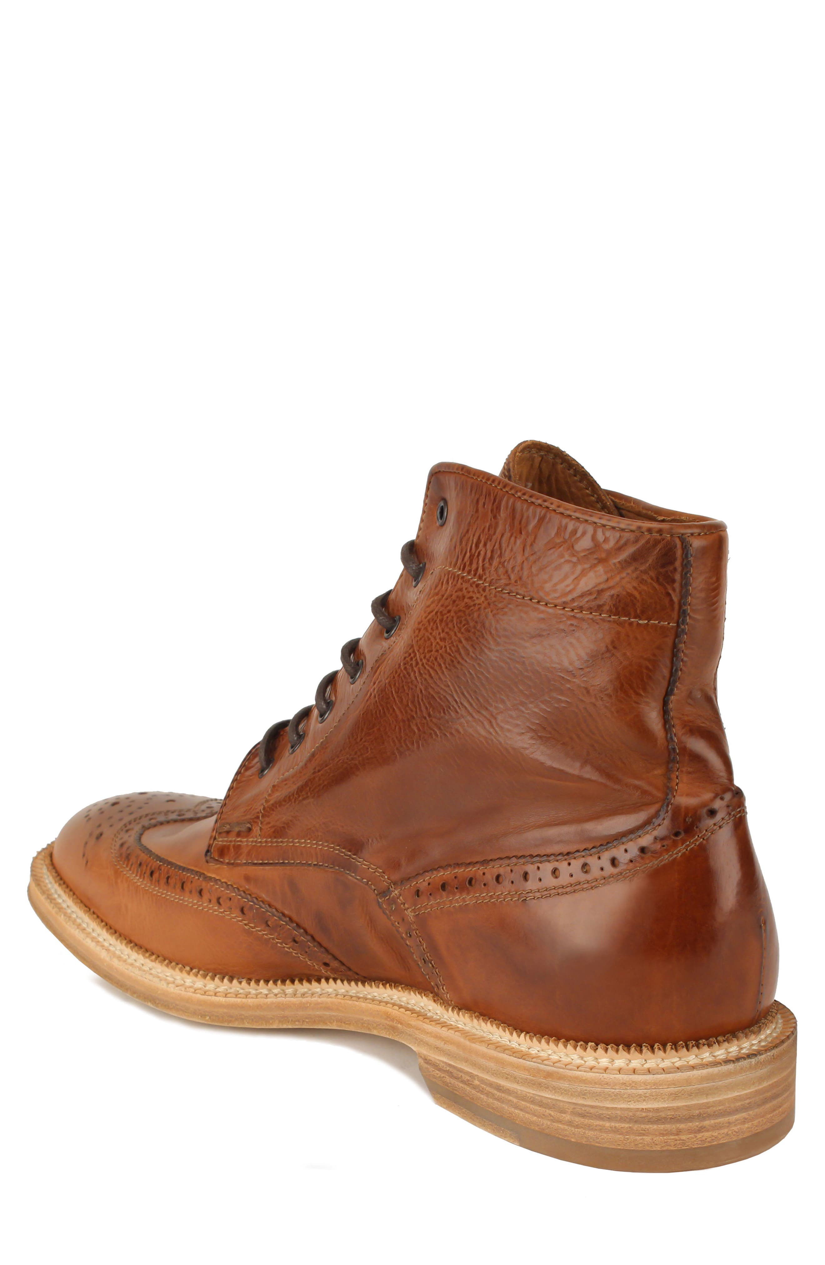 Max Wingtip Boot,                             Alternate thumbnail 2, color,                             WALNUT LEATHER