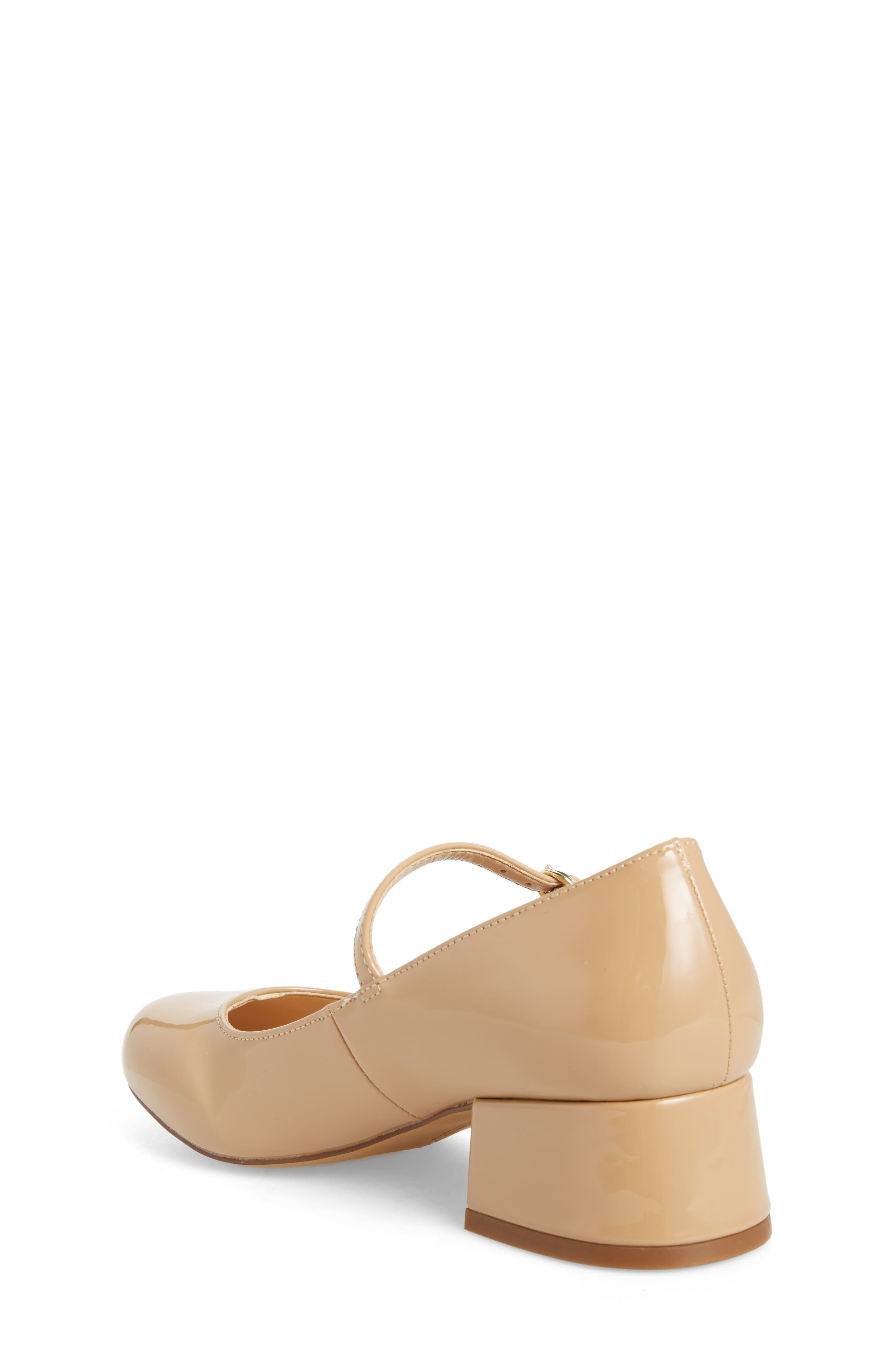 Brenna Mary Jane Pump,                             Alternate thumbnail 2, color,                             NUDE PATENT