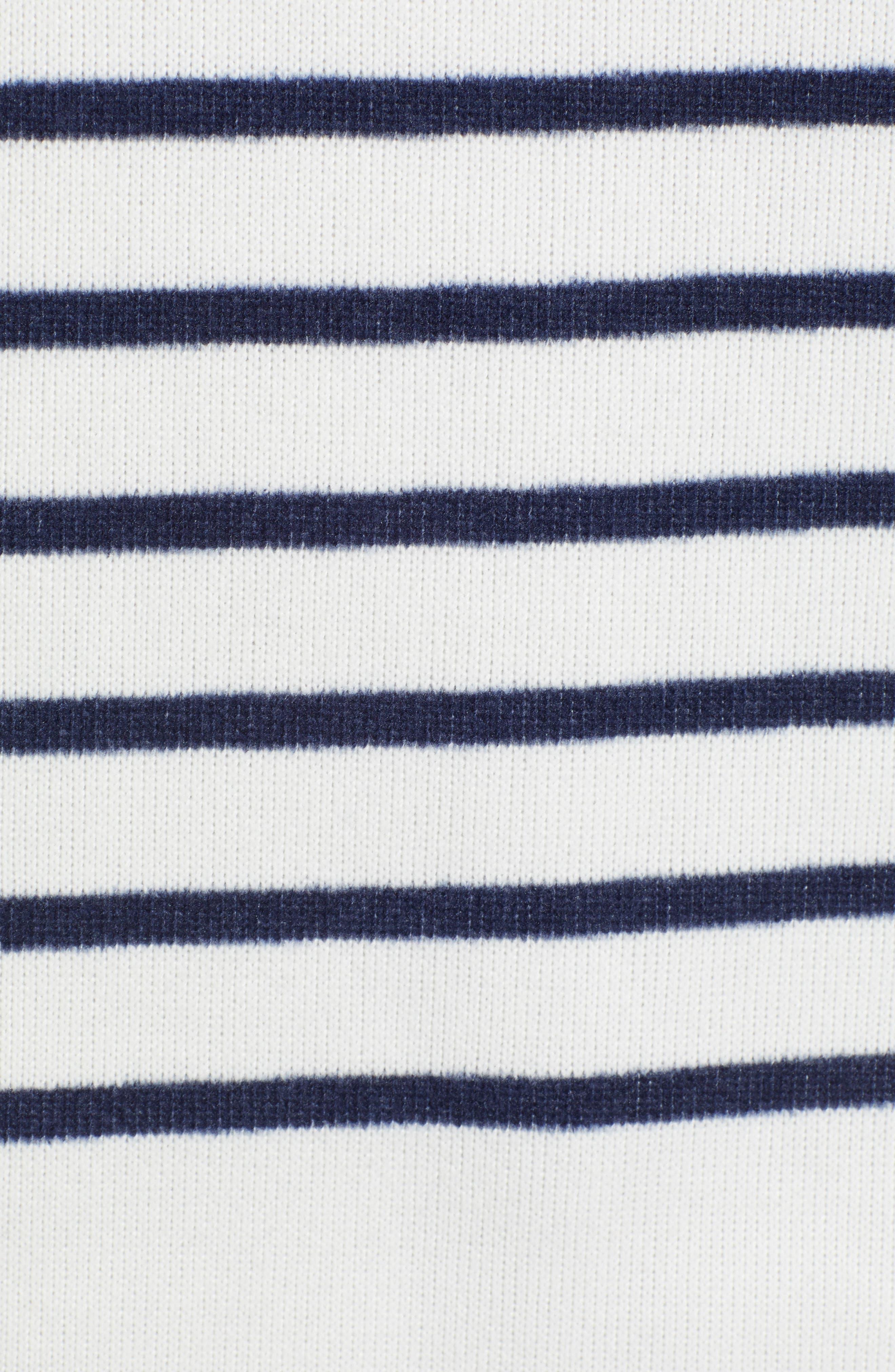 Funnel Neck Stripe Sweater,                             Alternate thumbnail 5, color,                             111