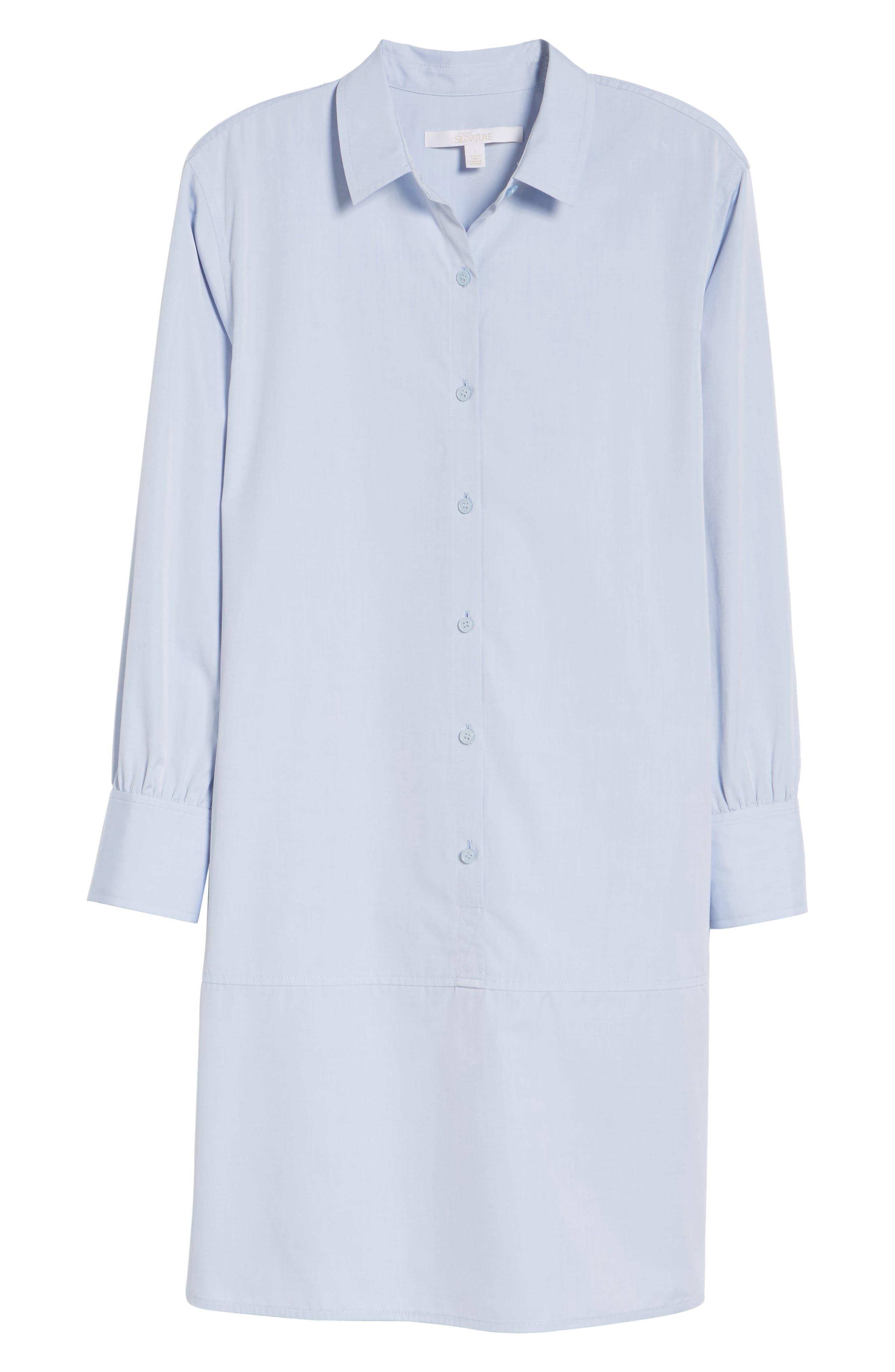 Solid Poplin Shirtdress,                             Alternate thumbnail 6, color,                             450