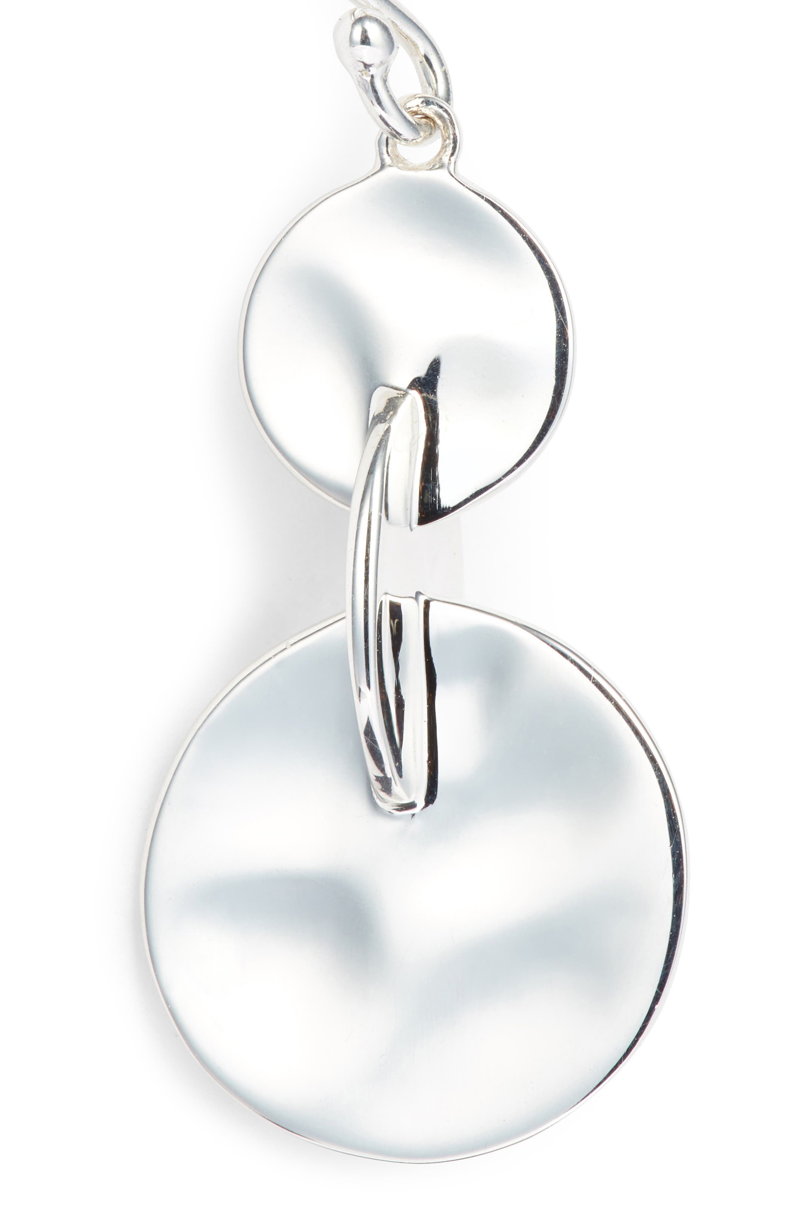 Senso Connected Sterling Drop Earrings,                             Alternate thumbnail 5, color,                             SILVER