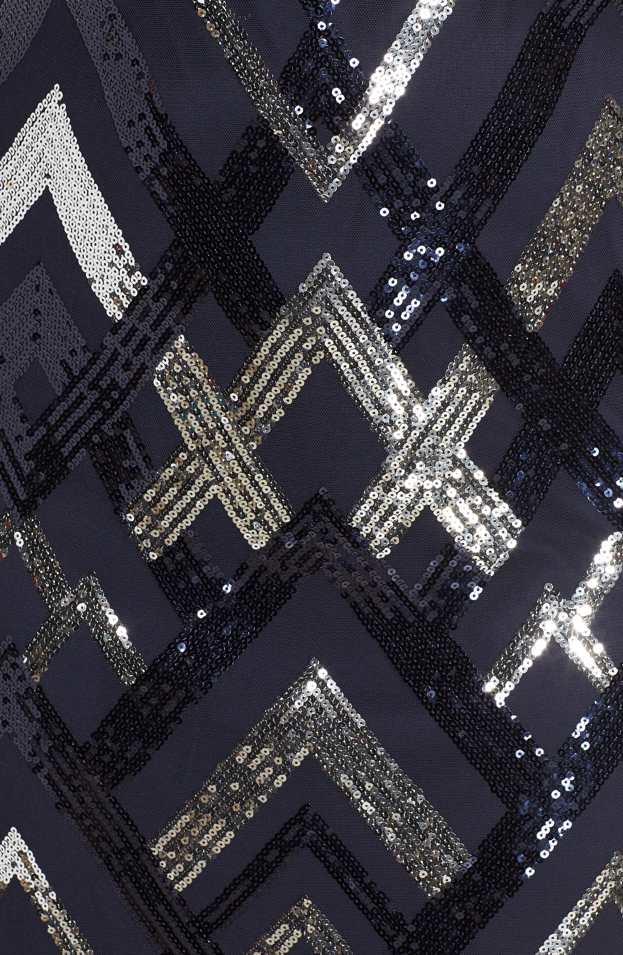 Sequin Cap Sleeve Sheath Dress,                             Alternate thumbnail 6, color,                             470