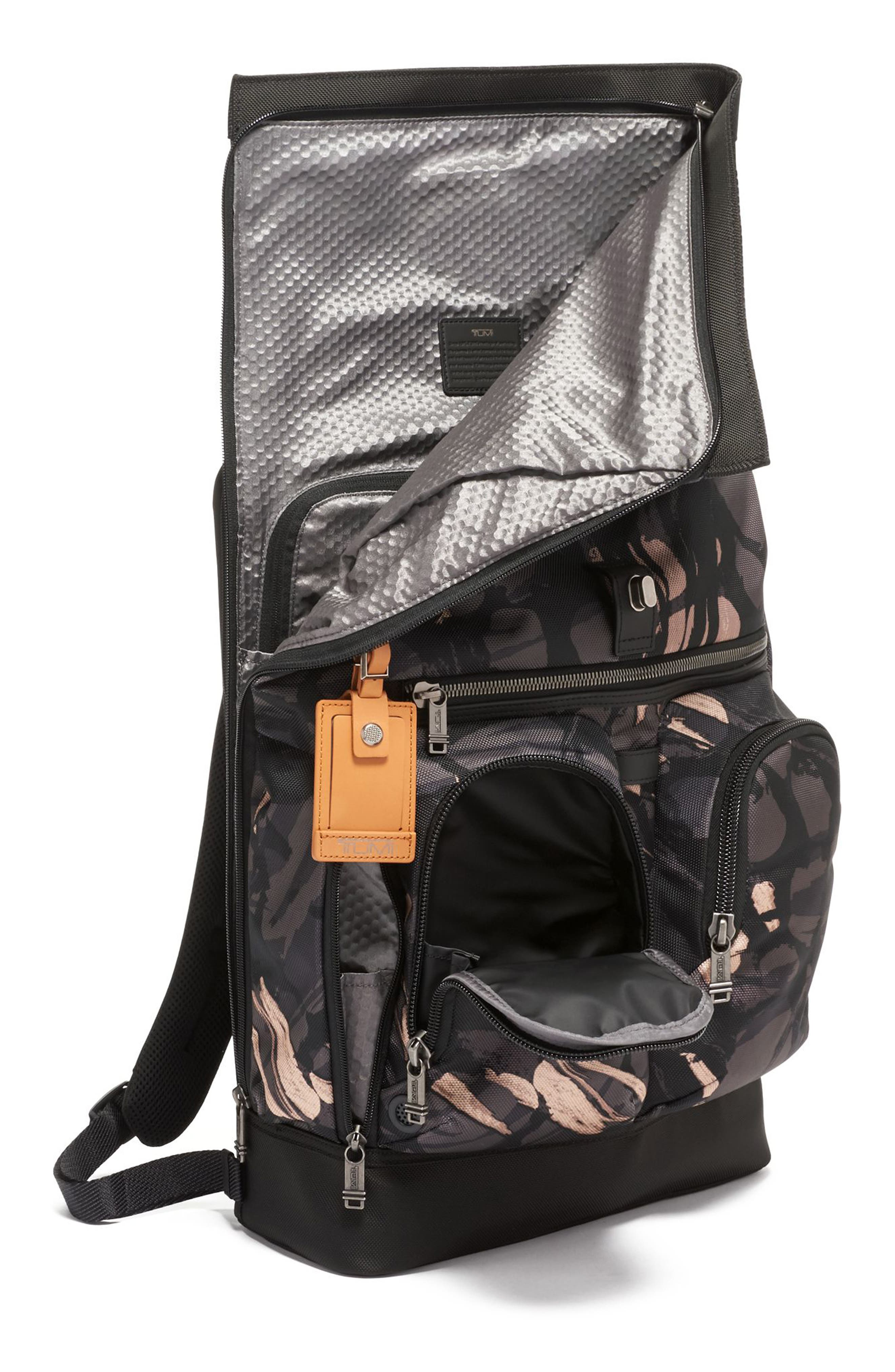 TUMI,                             Alpha Bravo London Backpack,                             Alternate thumbnail 4, color,                             GREY HIGHLANDS PRINT