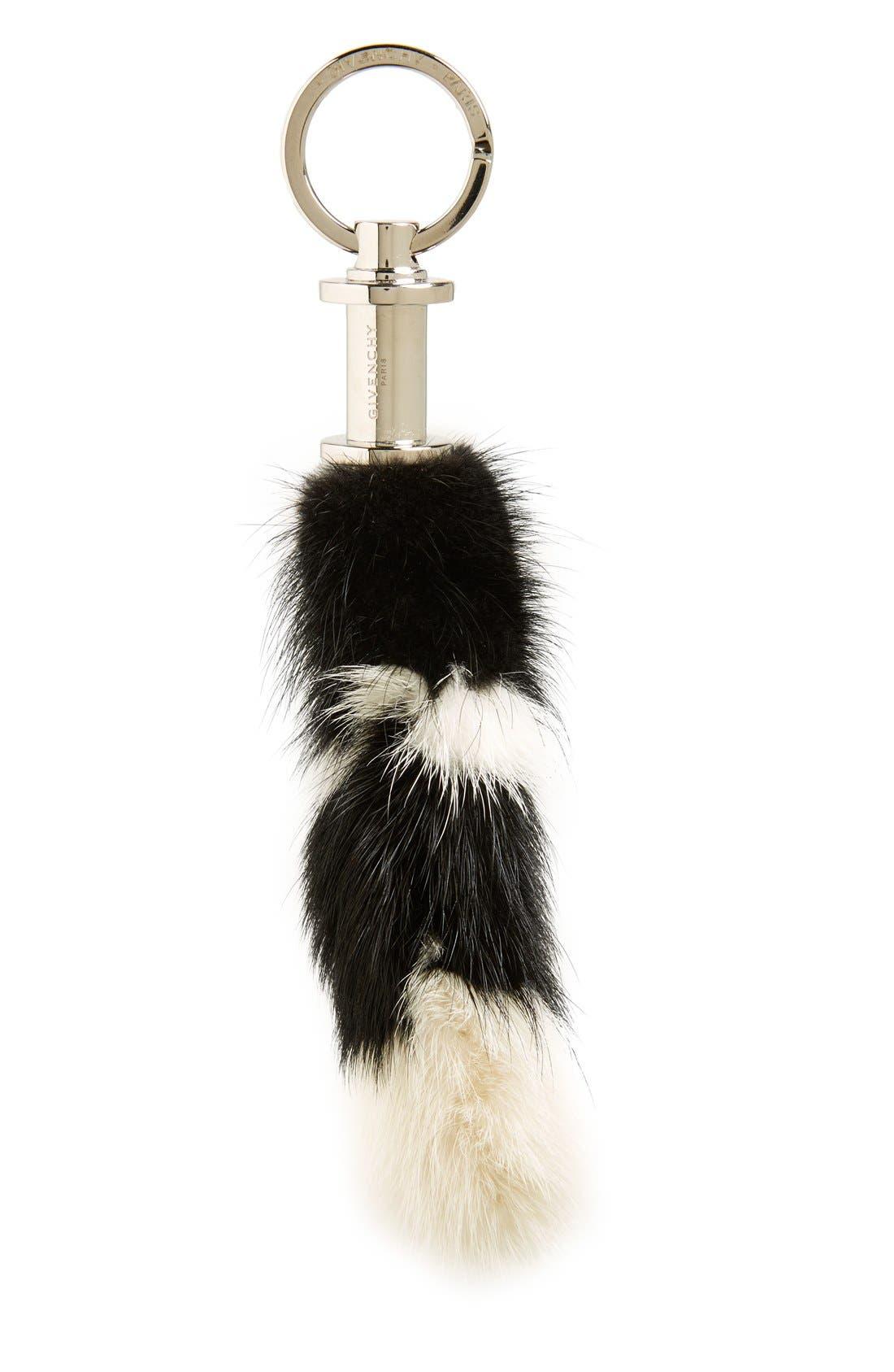 Genuine Mink Fur Bag Charm,                             Main thumbnail 1, color,