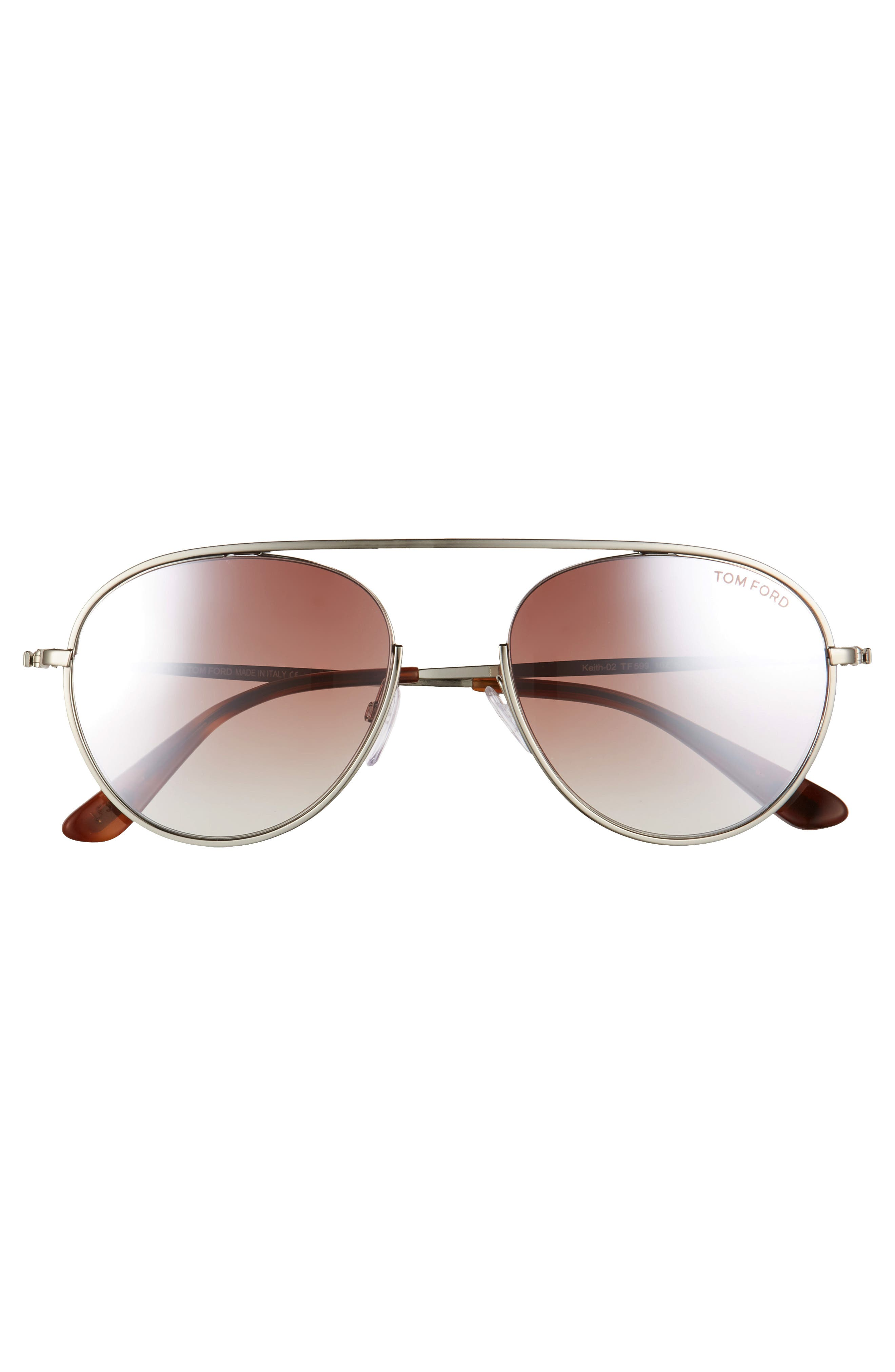 Keith 55mm Metal Aviator Sunglasses,                             Alternate thumbnail 3, color,                             040