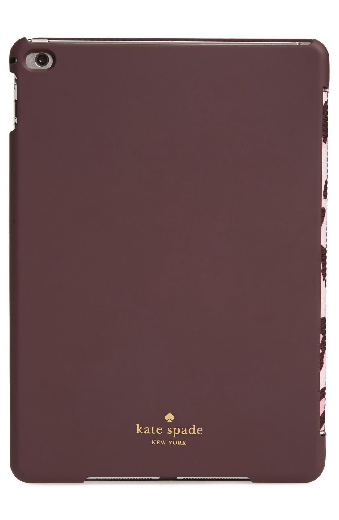 KATE SPADE NEW YORK,                             leopard print iPad Air 2 hardcase folio,                             Alternate thumbnail 4, color,                             650
