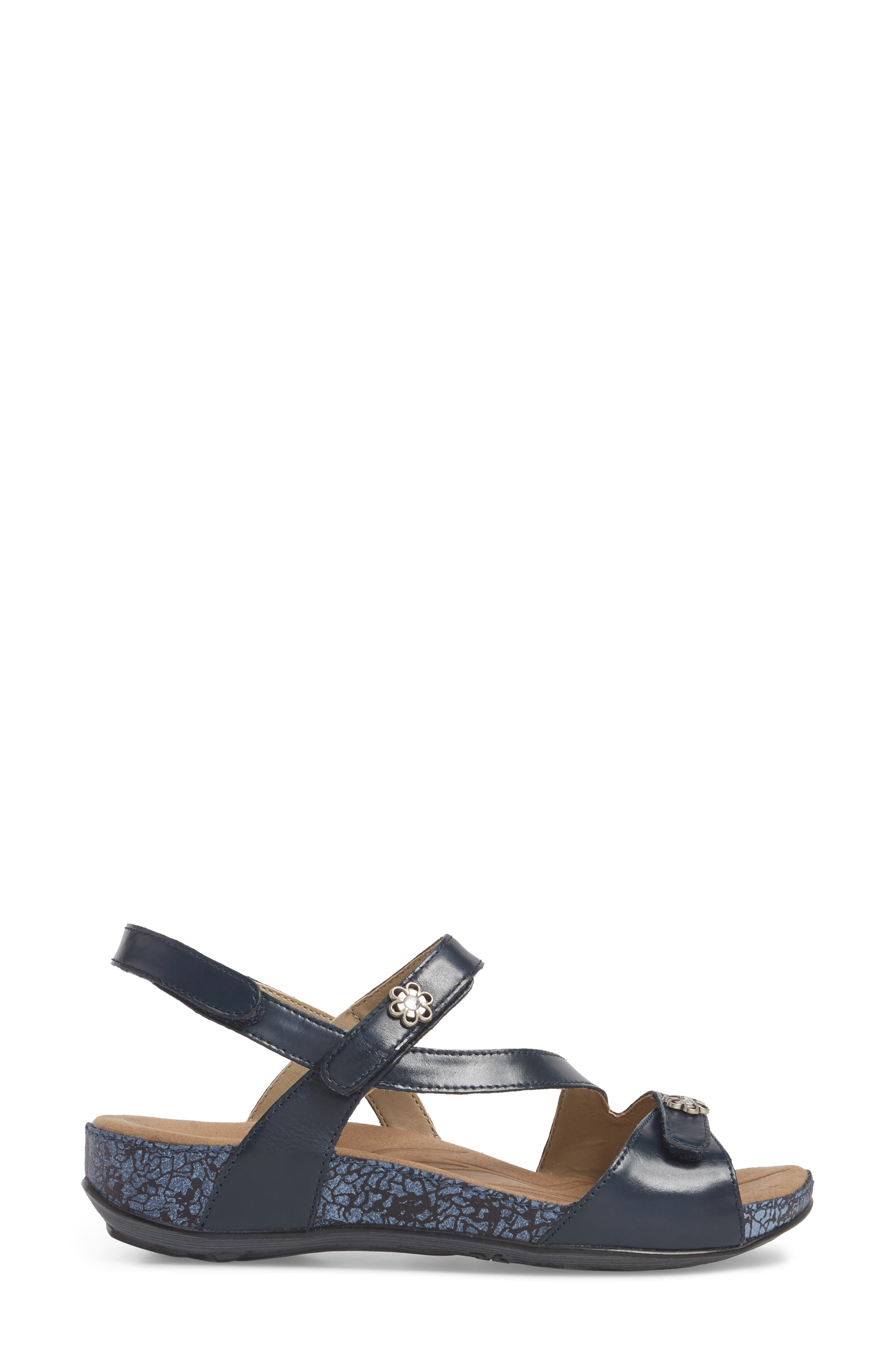 Fidschi 54 Sandal,                             Alternate thumbnail 3, color,                             JEANS LEATHER