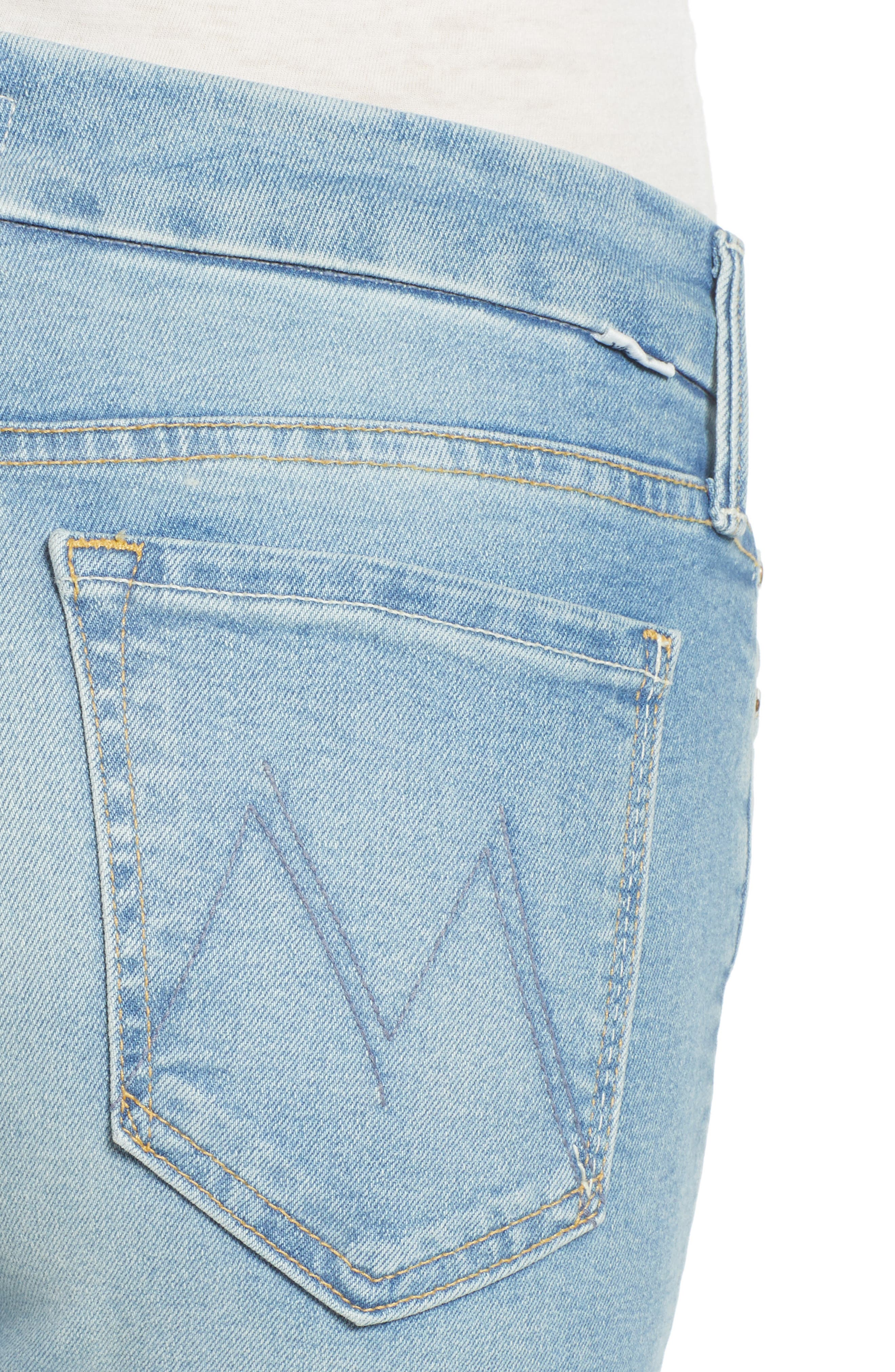 The Looker Fray Ankle Skinny Jeans,                             Alternate thumbnail 4, color,                             400