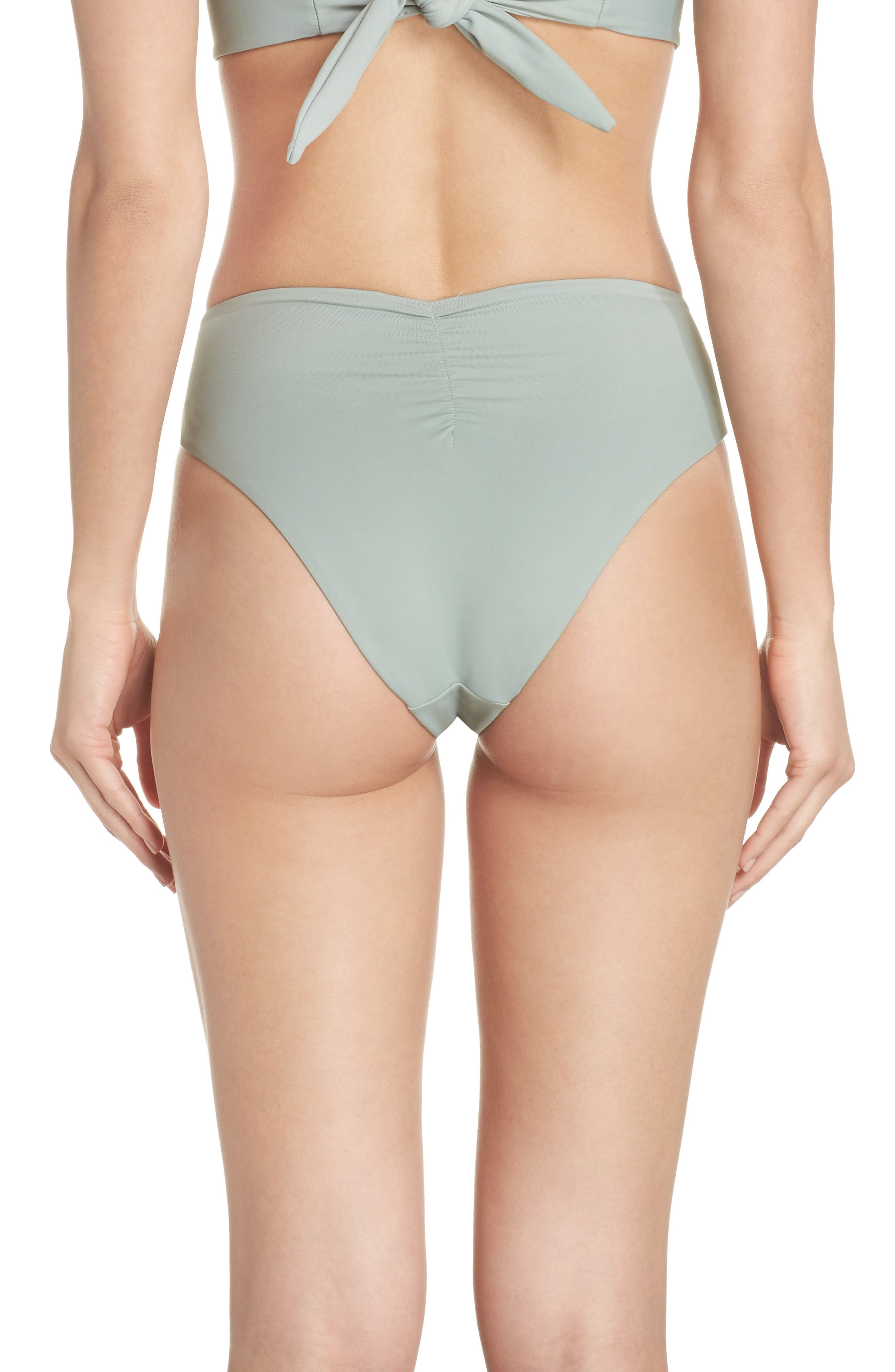 Paula Tie-Up Bikini Bottoms,                             Alternate thumbnail 2, color,                             PISTACHE GREEN