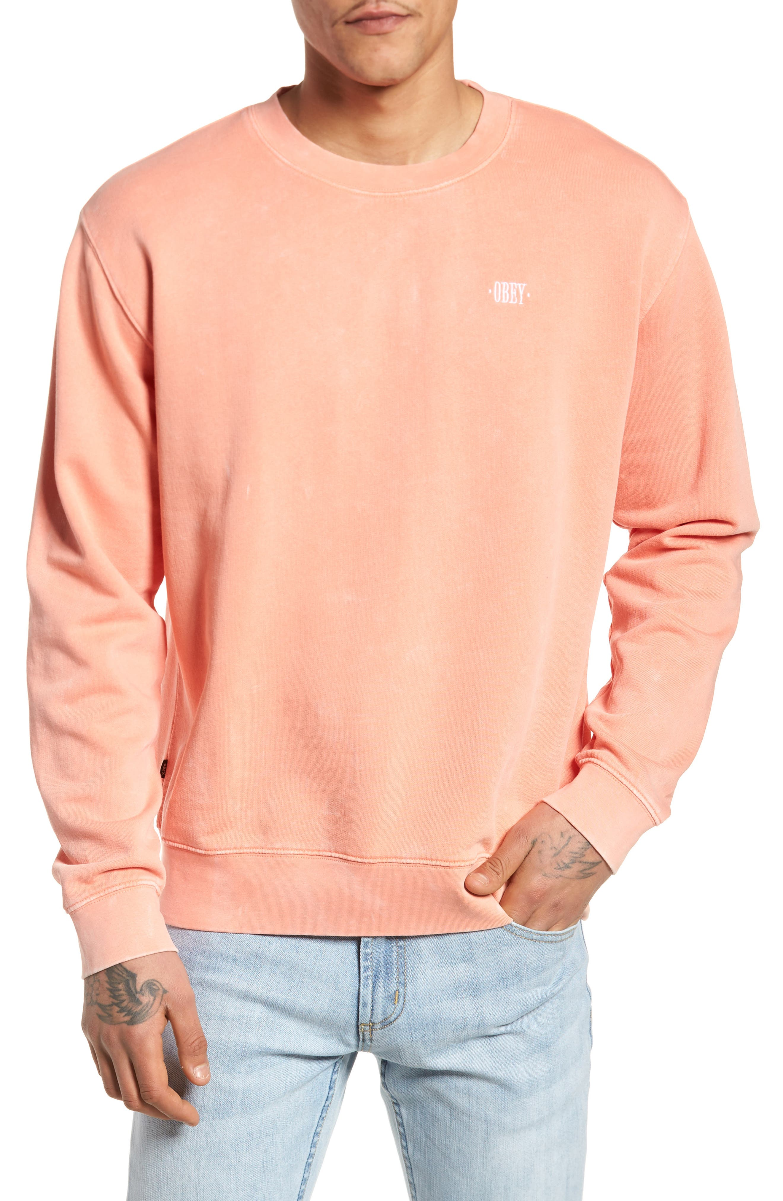 Faded Pigment-Dyed Sweatshirt,                         Main,                         color,