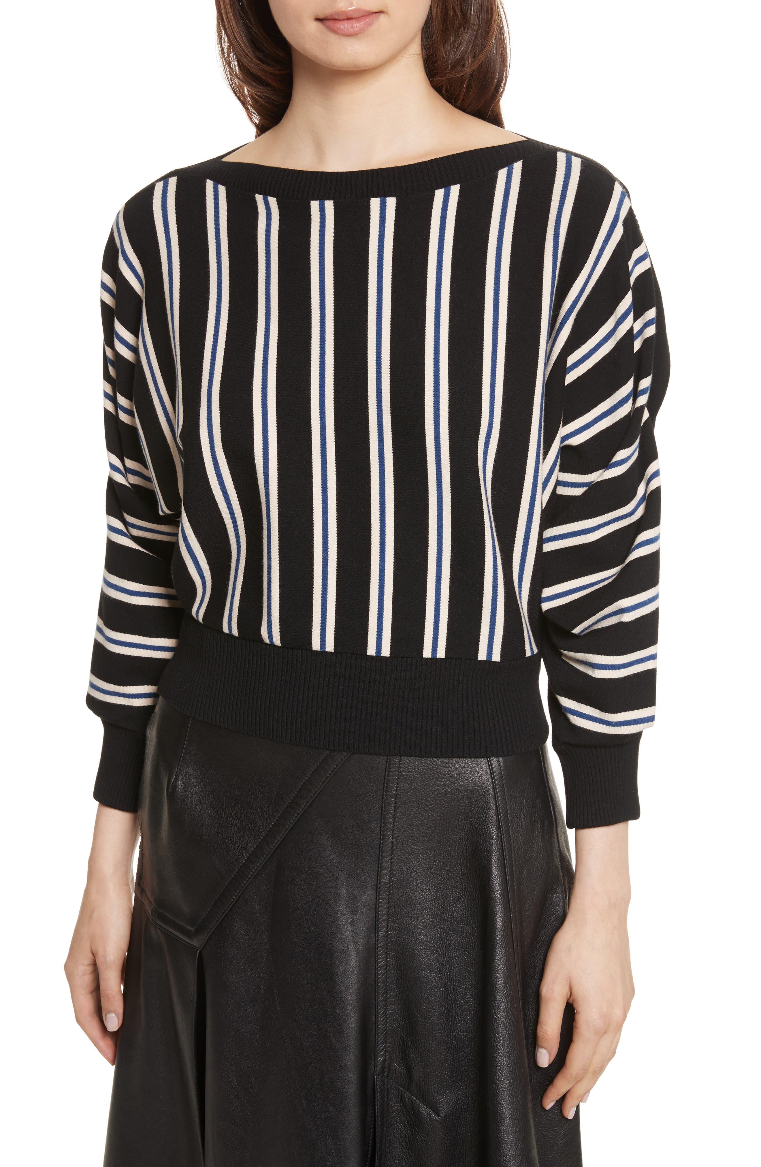 Ottoman Stripe Pullover,                         Main,                         color, 001