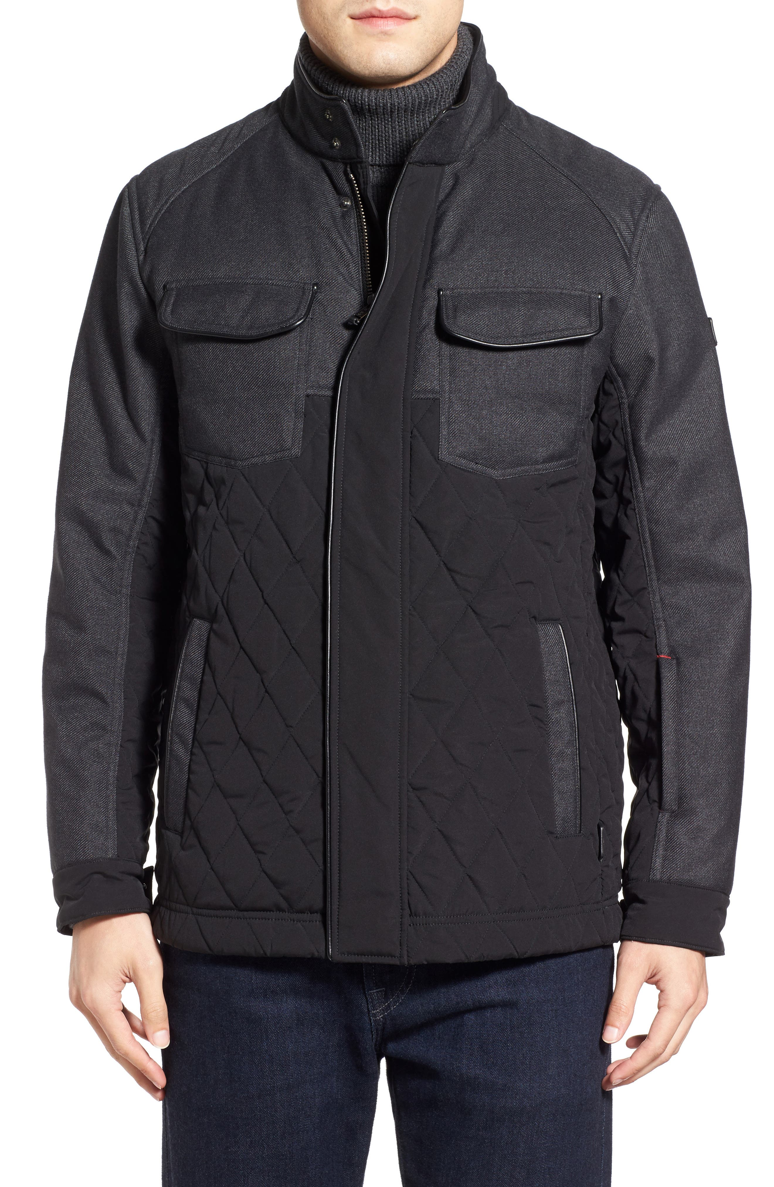 'Heritage' Quilted Jacket,                             Alternate thumbnail 2, color,                             001
