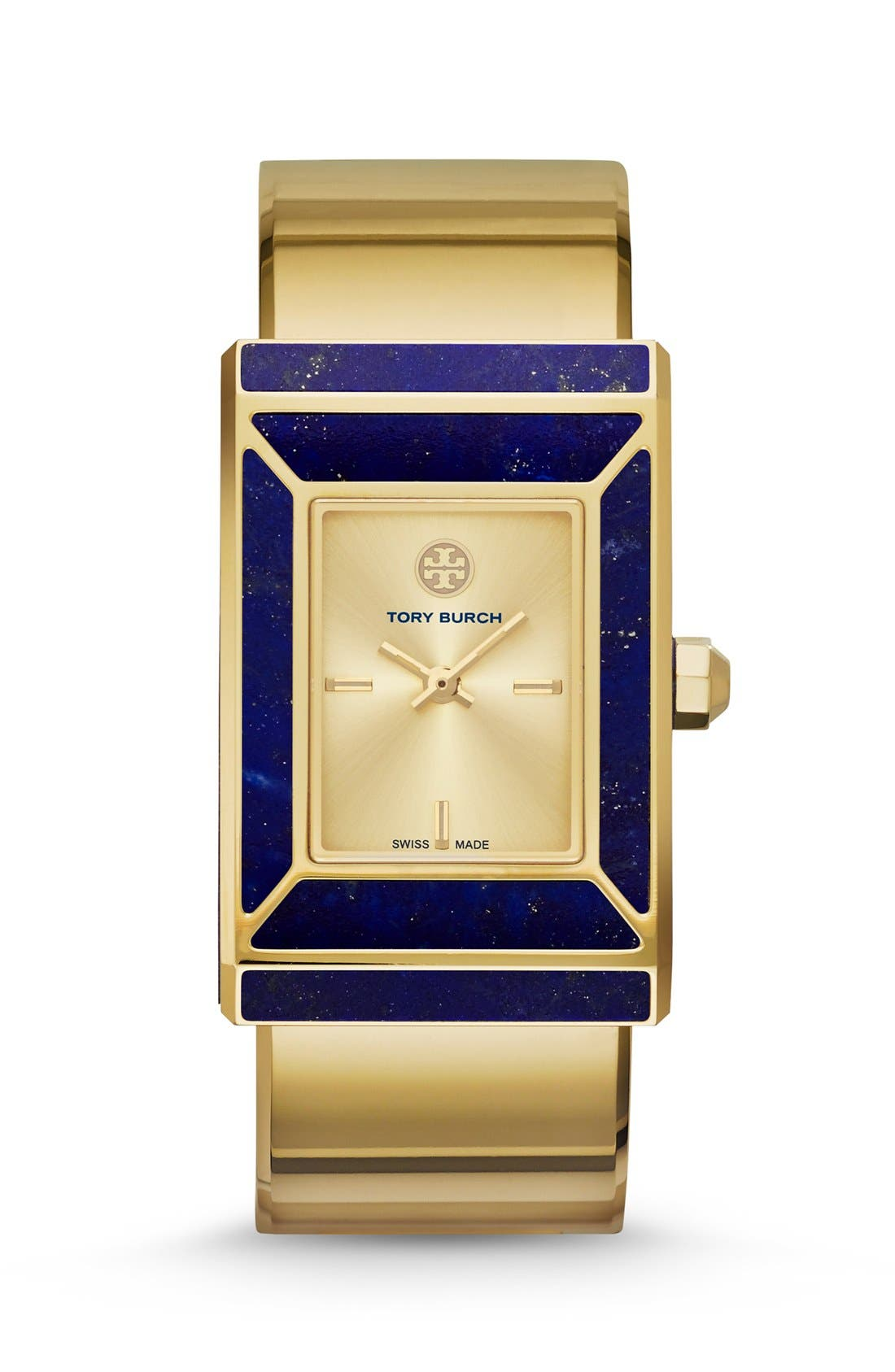 TORY BURCH 'Robinson' Rectangle Case Bangle Watch, 25mm x 38mm, Main, color, 710