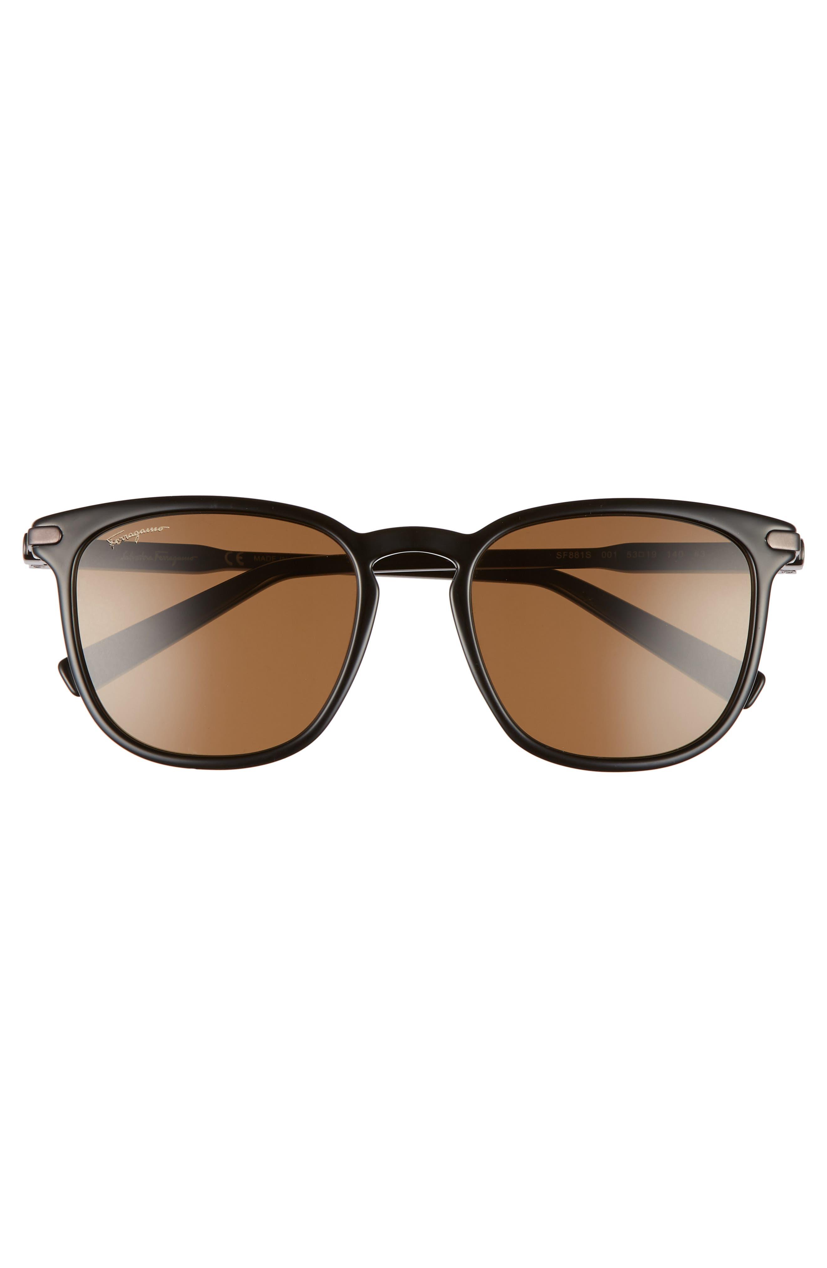 Double Gancio 53mm Sunglasses,                             Alternate thumbnail 2, color,                             BLACK