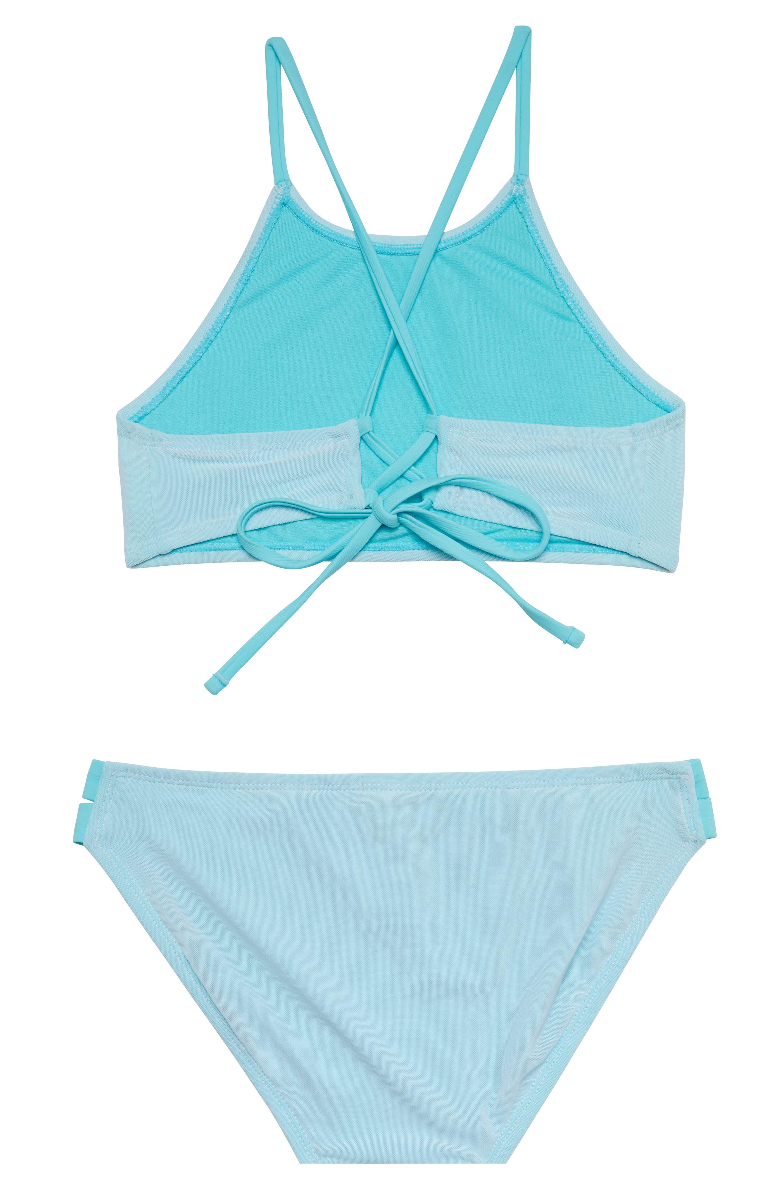 Summer Mesh Two-Piece Swimsuit,                             Alternate thumbnail 2, color,                             BLUE