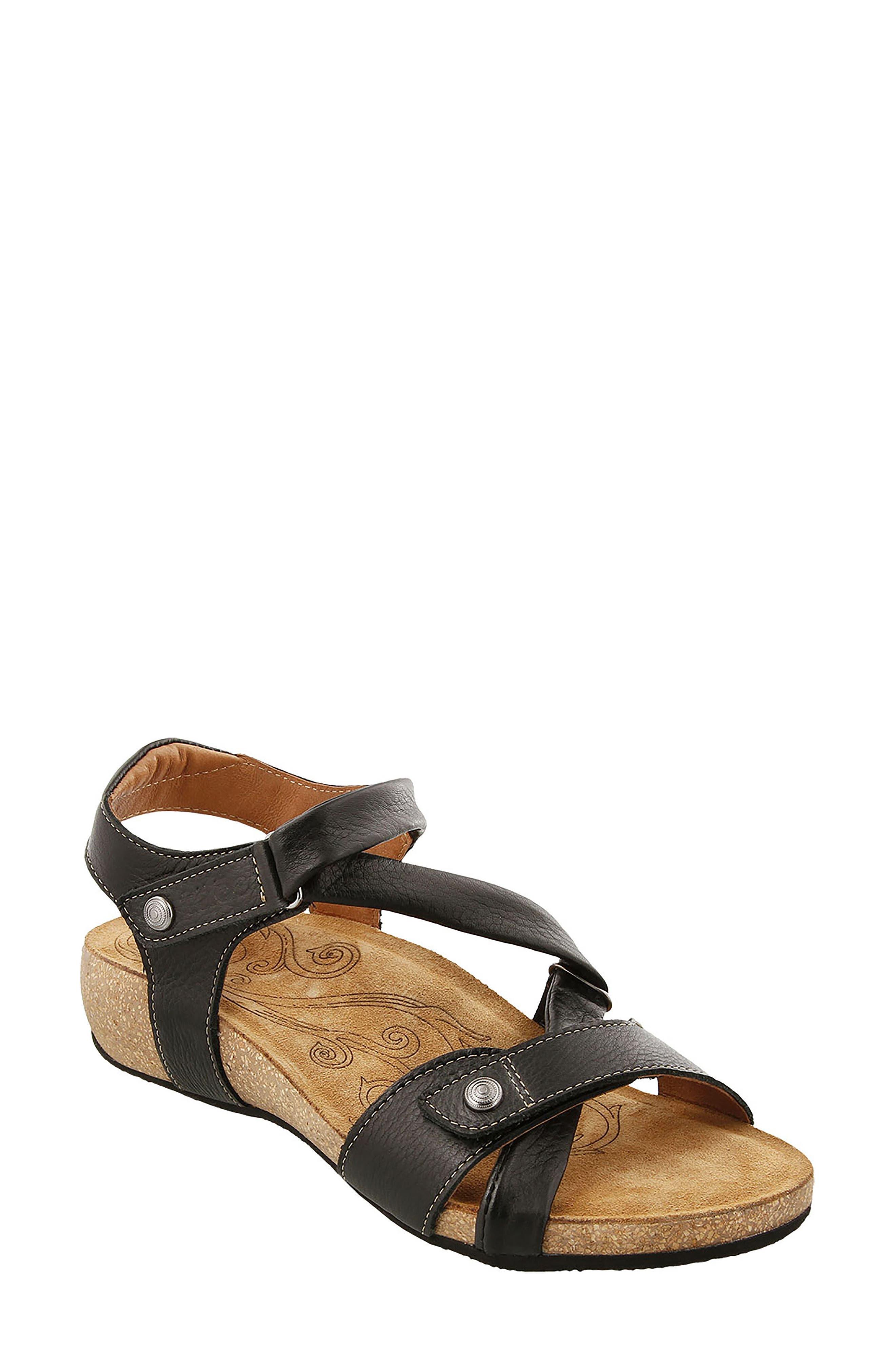 Universe Sandal,                         Main,                         color, BLACK LEATHER