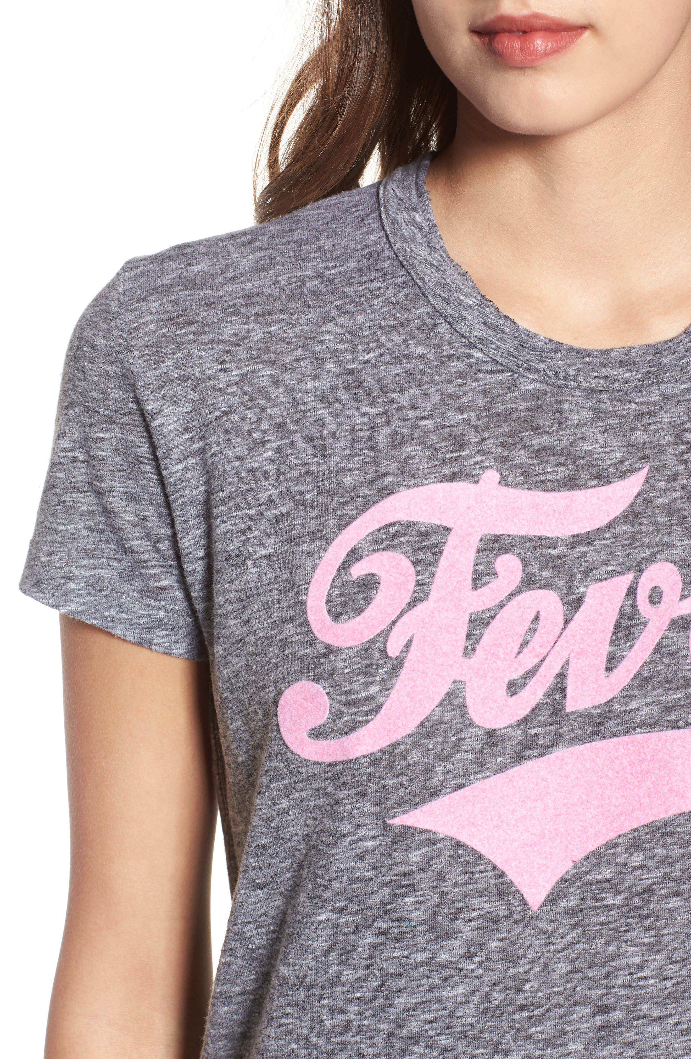 Fever Graphic Tee,                             Alternate thumbnail 4, color,                             078