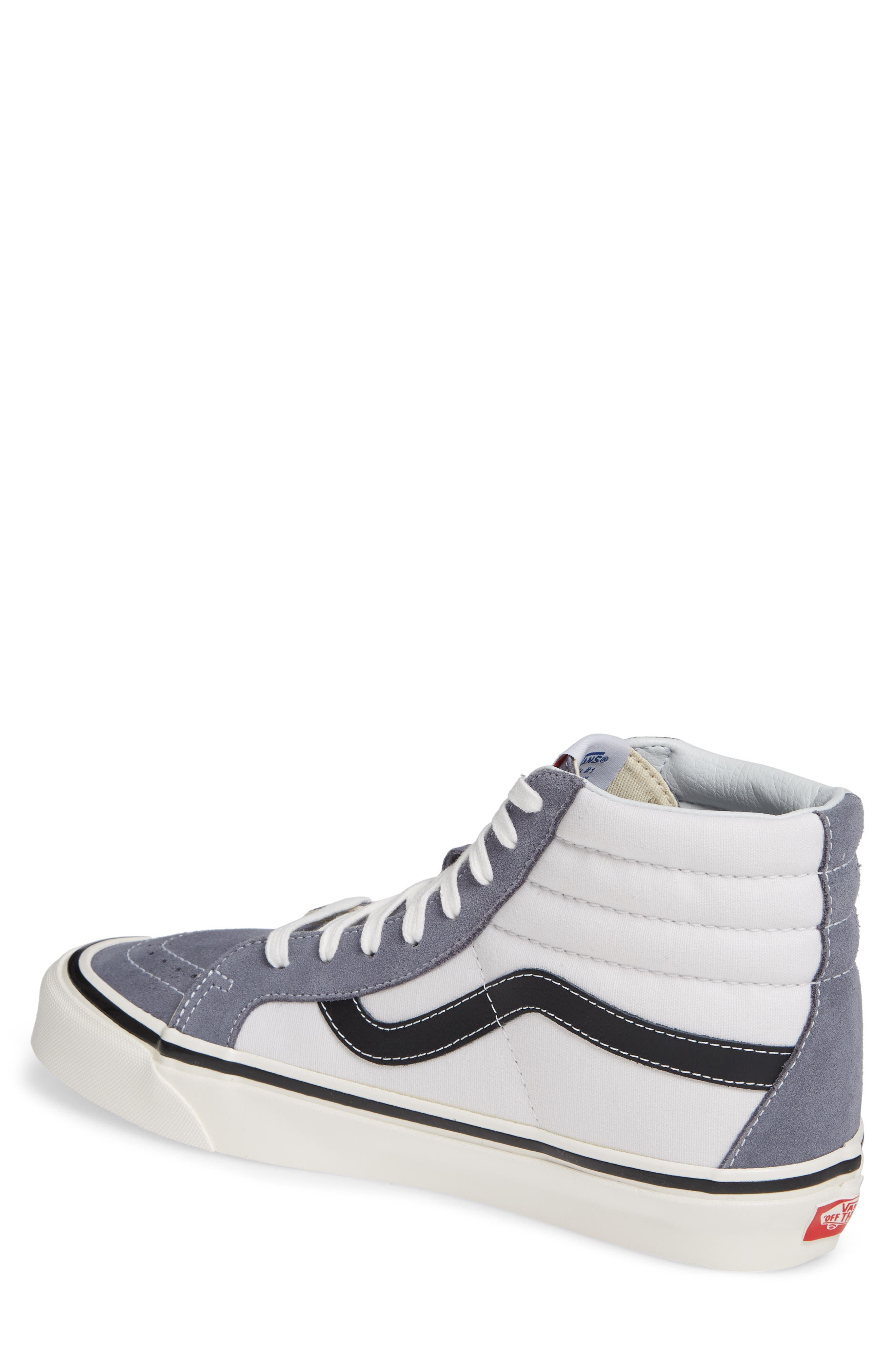 UA Sk8-Hi 38 DX Sneaker,                             Alternate thumbnail 2, color,                             DARK GREY/ WHITE