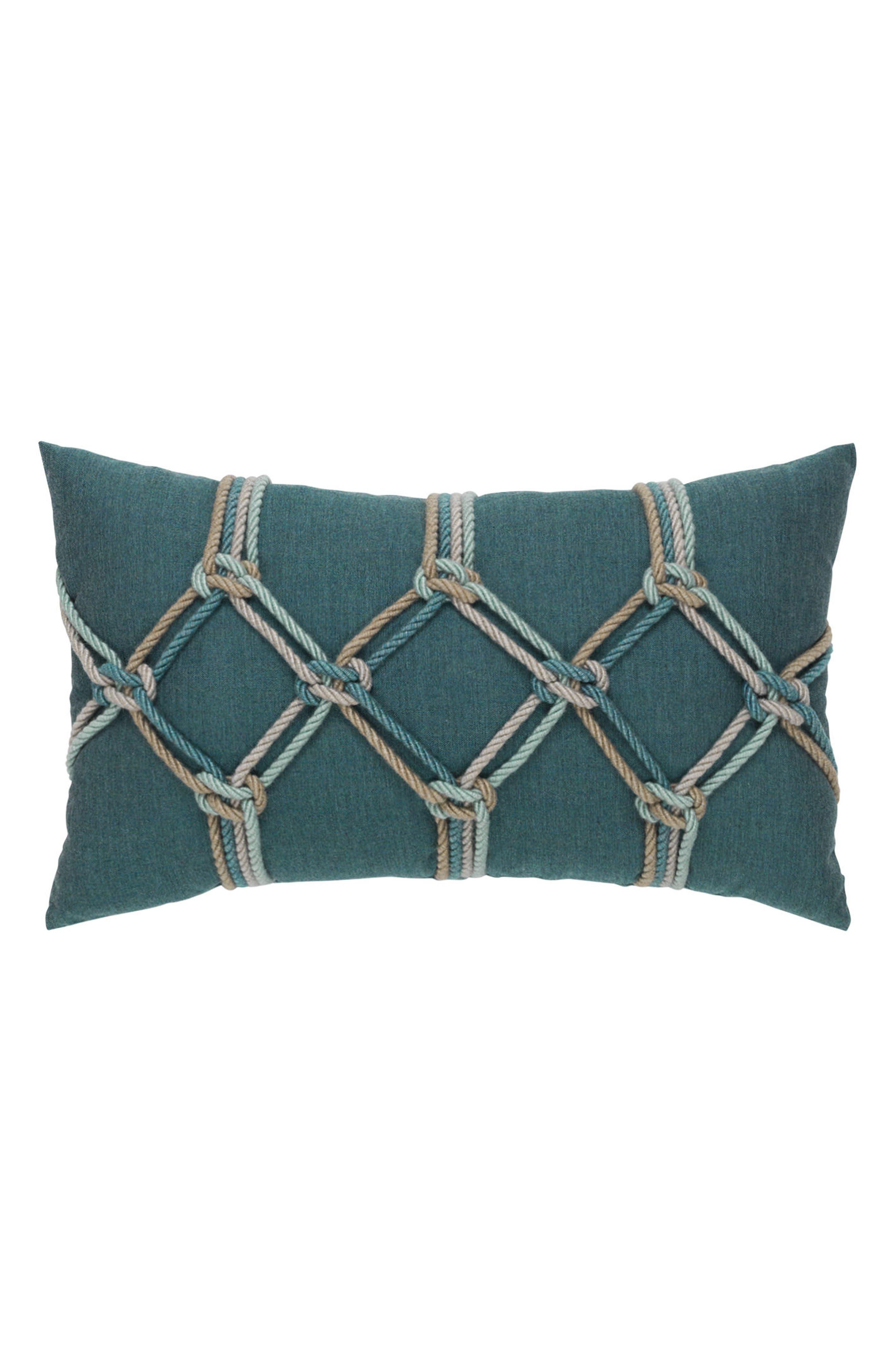 Lagoon Rope Lumbar Pillow,                             Main thumbnail 1, color,                             BLUE