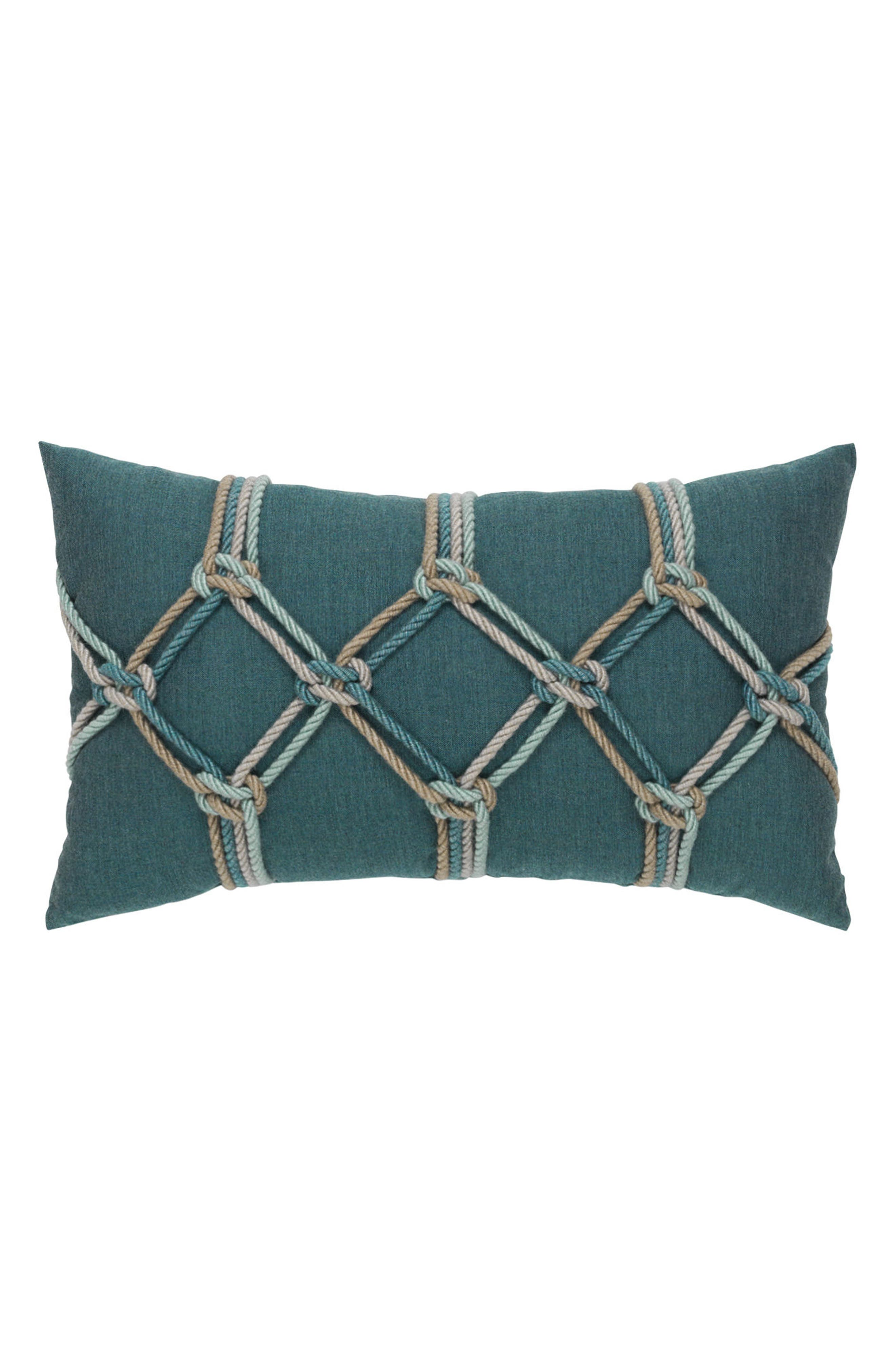Lagoon Rope Lumbar Pillow,                         Main,                         color, BLUE