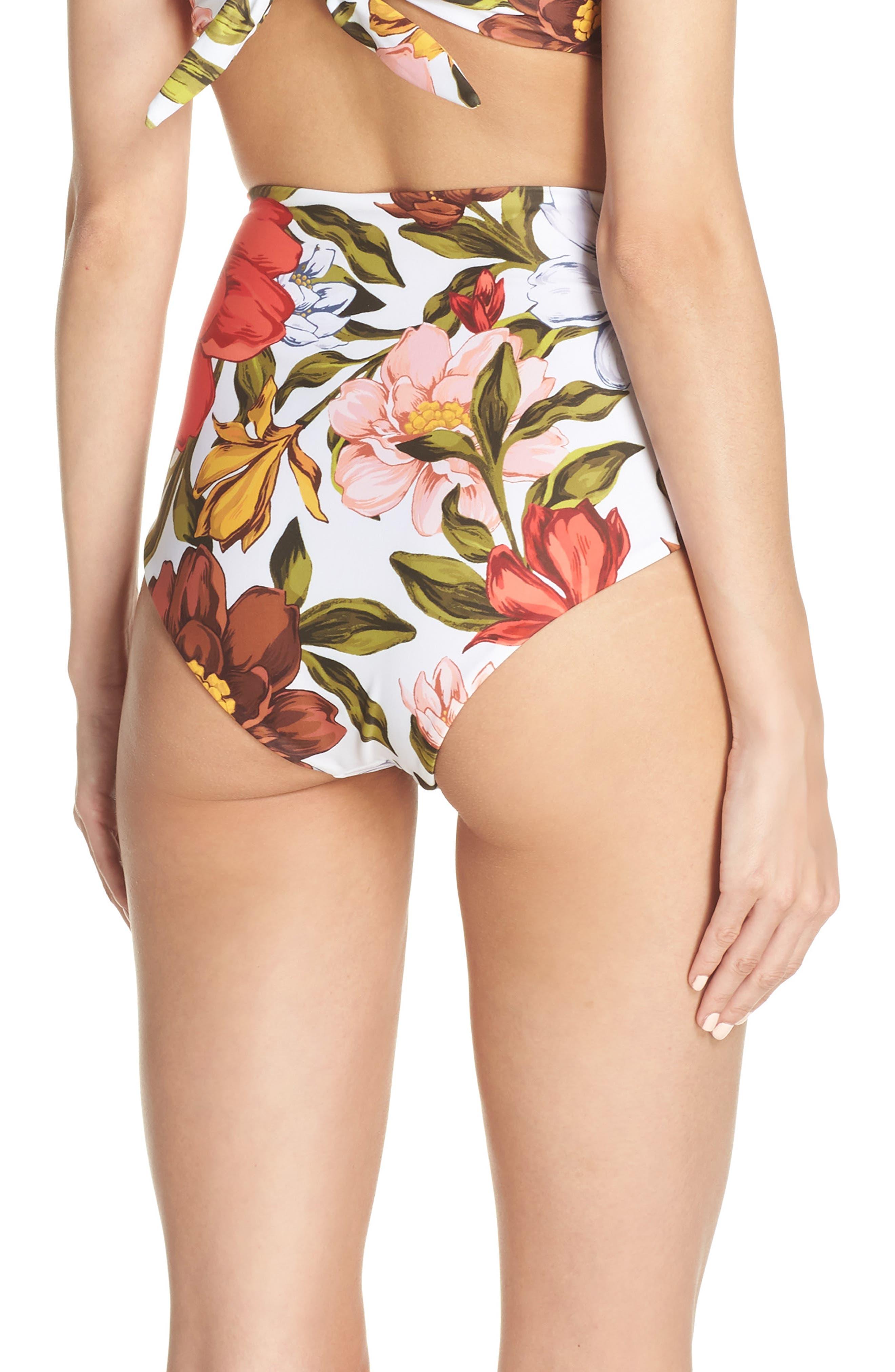 Lydia High Waist Bikini Bottoms,                             Alternate thumbnail 2, color,                             105