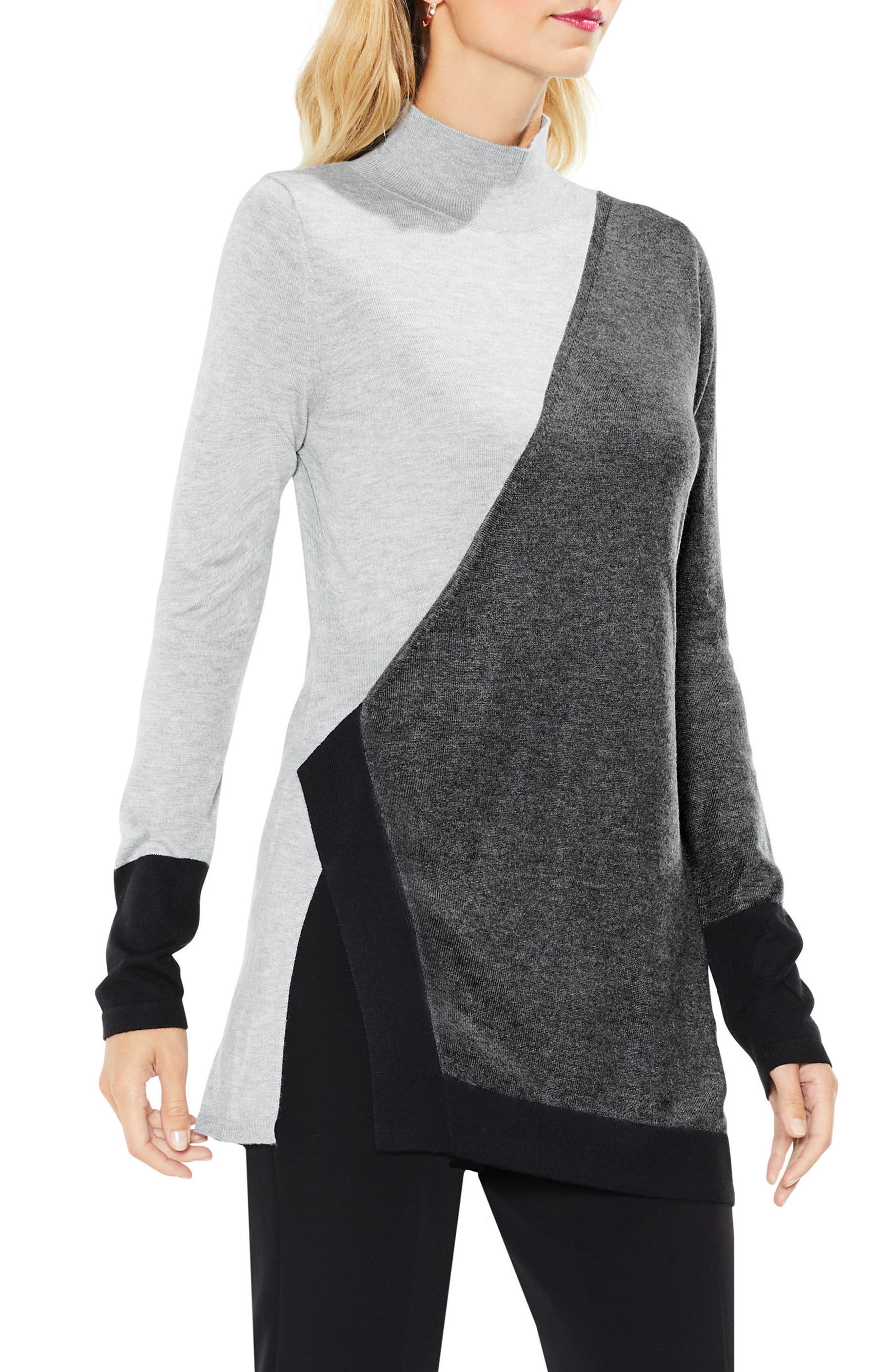 Long Sleeve Colorblocked Turtleneck,                         Main,                         color, 023