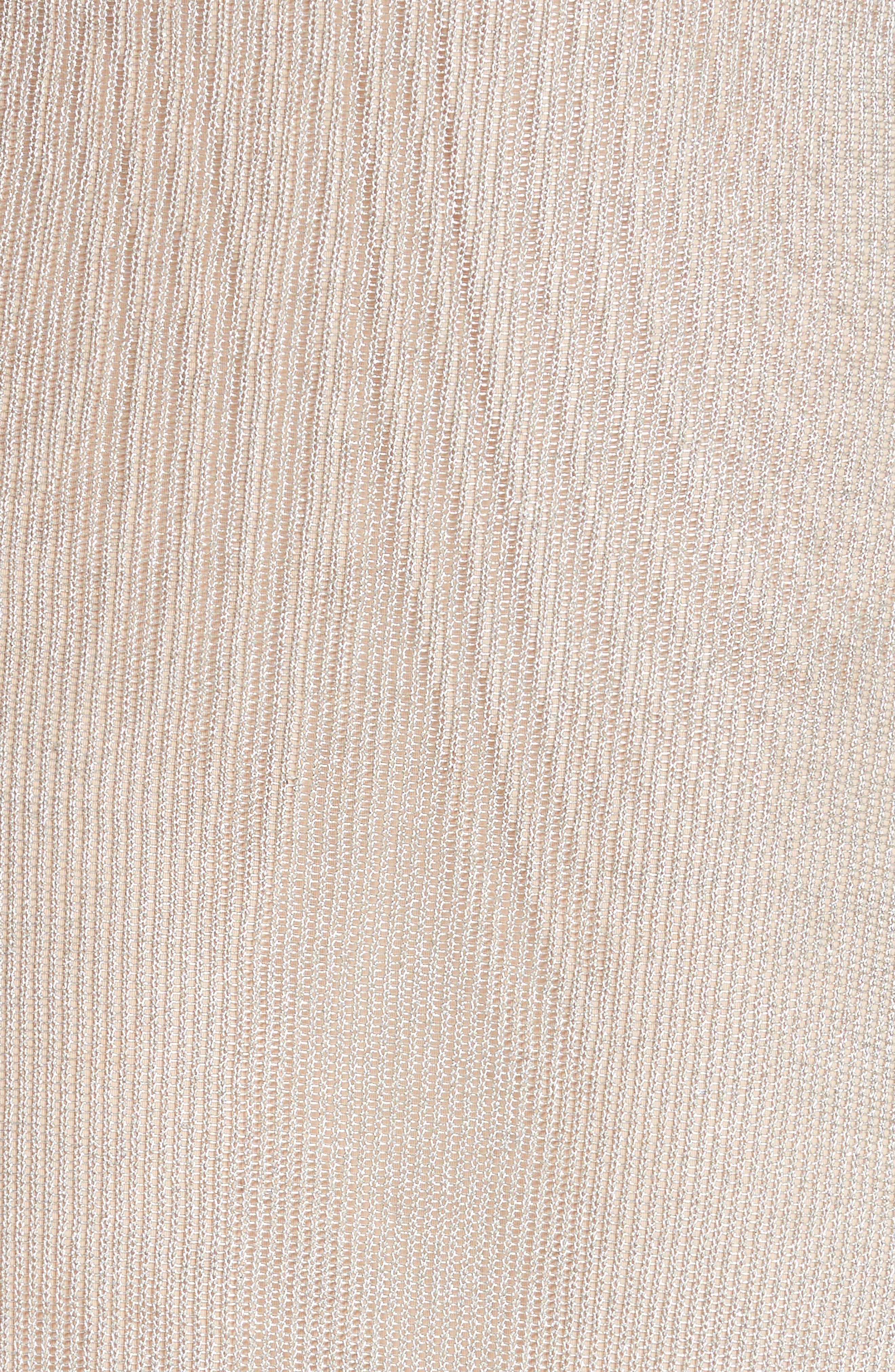 Metallic Rib Turtleneck Dress,                             Alternate thumbnail 7, color,                             SM - SILVER MESH