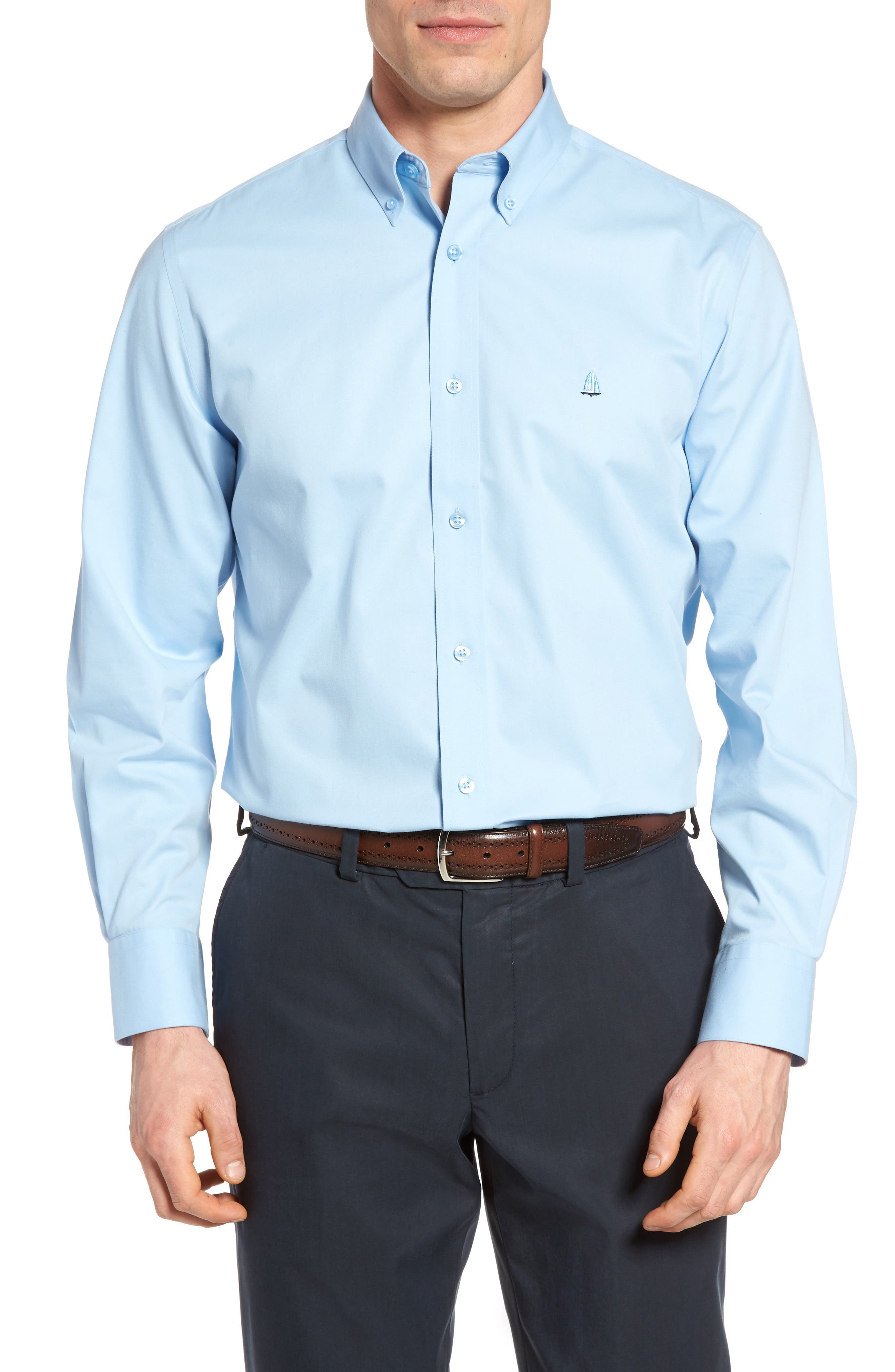 Smartcare<sup>™</sup> Traditional Fit Twill Boat Shirt,                             Alternate thumbnail 63, color,