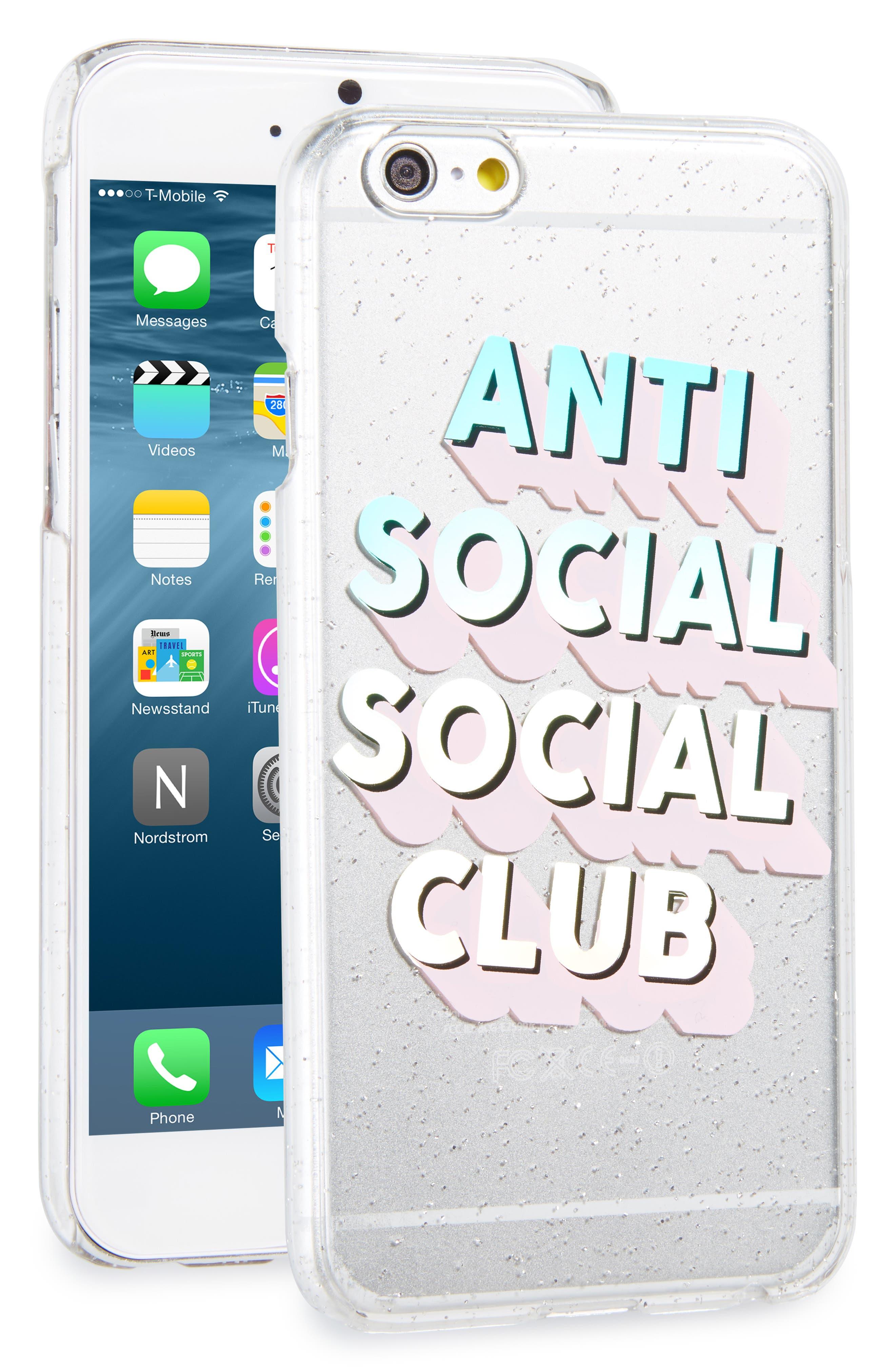 Anti Social Social Club iPhone 6/6s Case,                             Main thumbnail 1, color,                             650