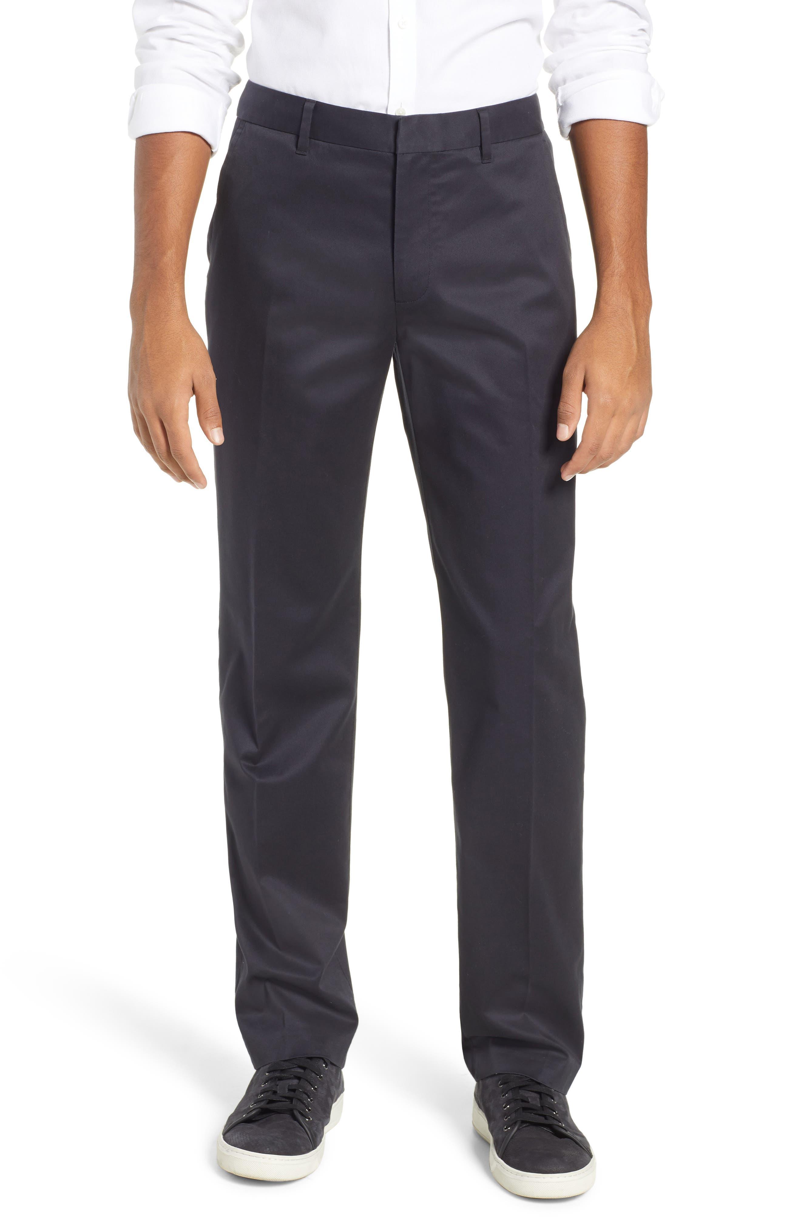 Weekday Warrior Straight Leg Stretch Dress Pants,                         Main,                         color, BLACKS