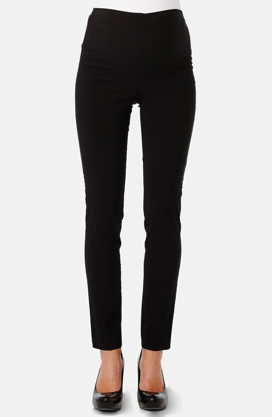 'Pret' Maternity Pants,                         Main,                         color, BLACK