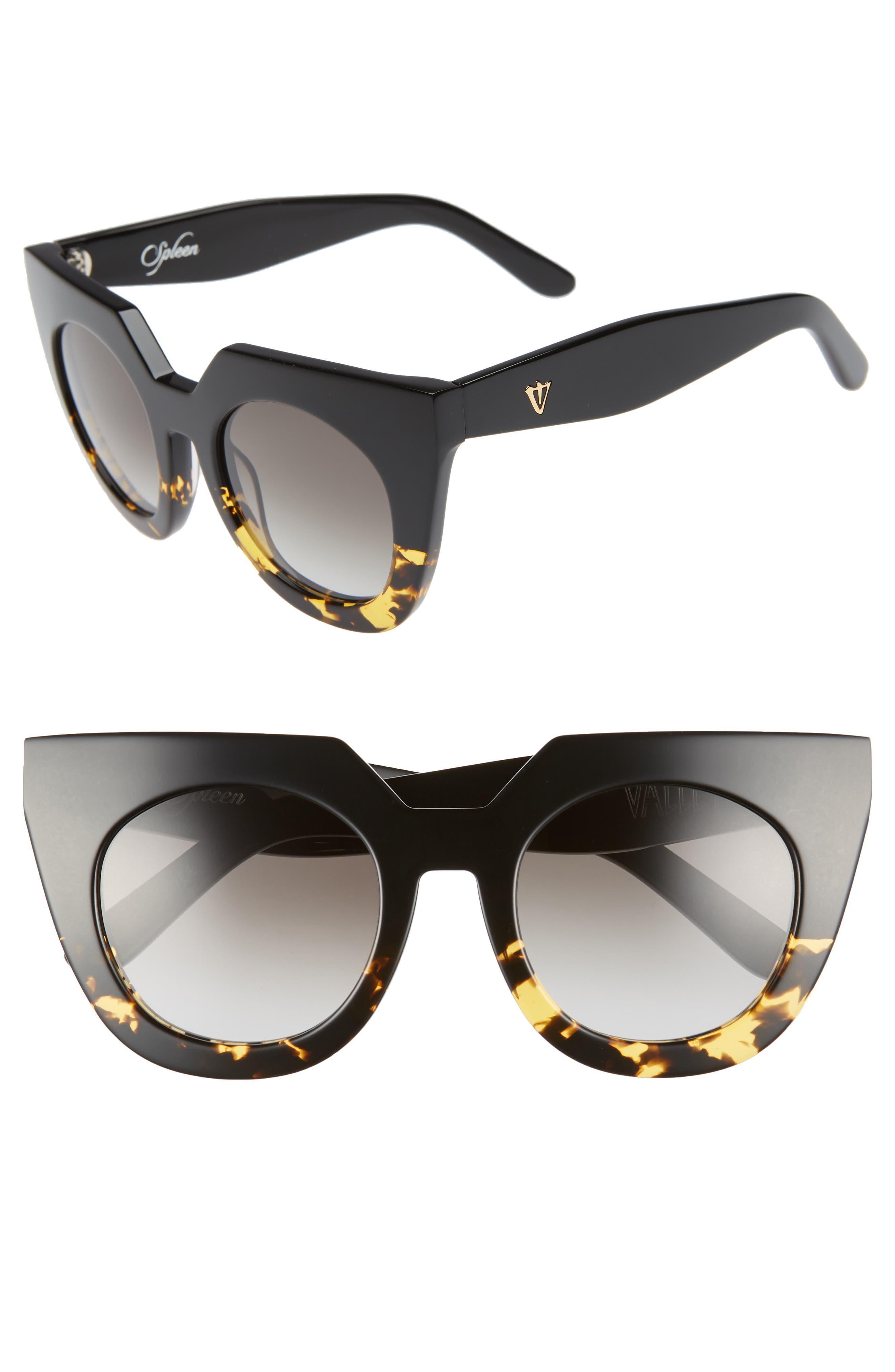 VALLEY,                             'Spleen' 49mm Oversized Cat Eye Sunglasses,                             Main thumbnail 1, color,                             003