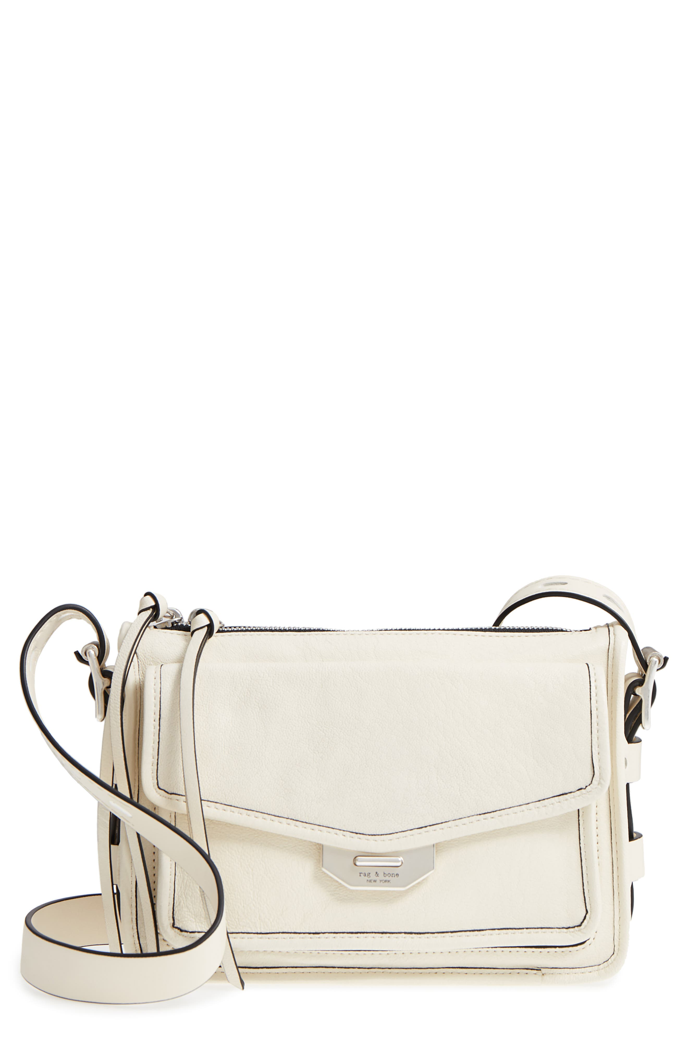 Small Leather Field Messenger Bag,                         Main,                         color, 101