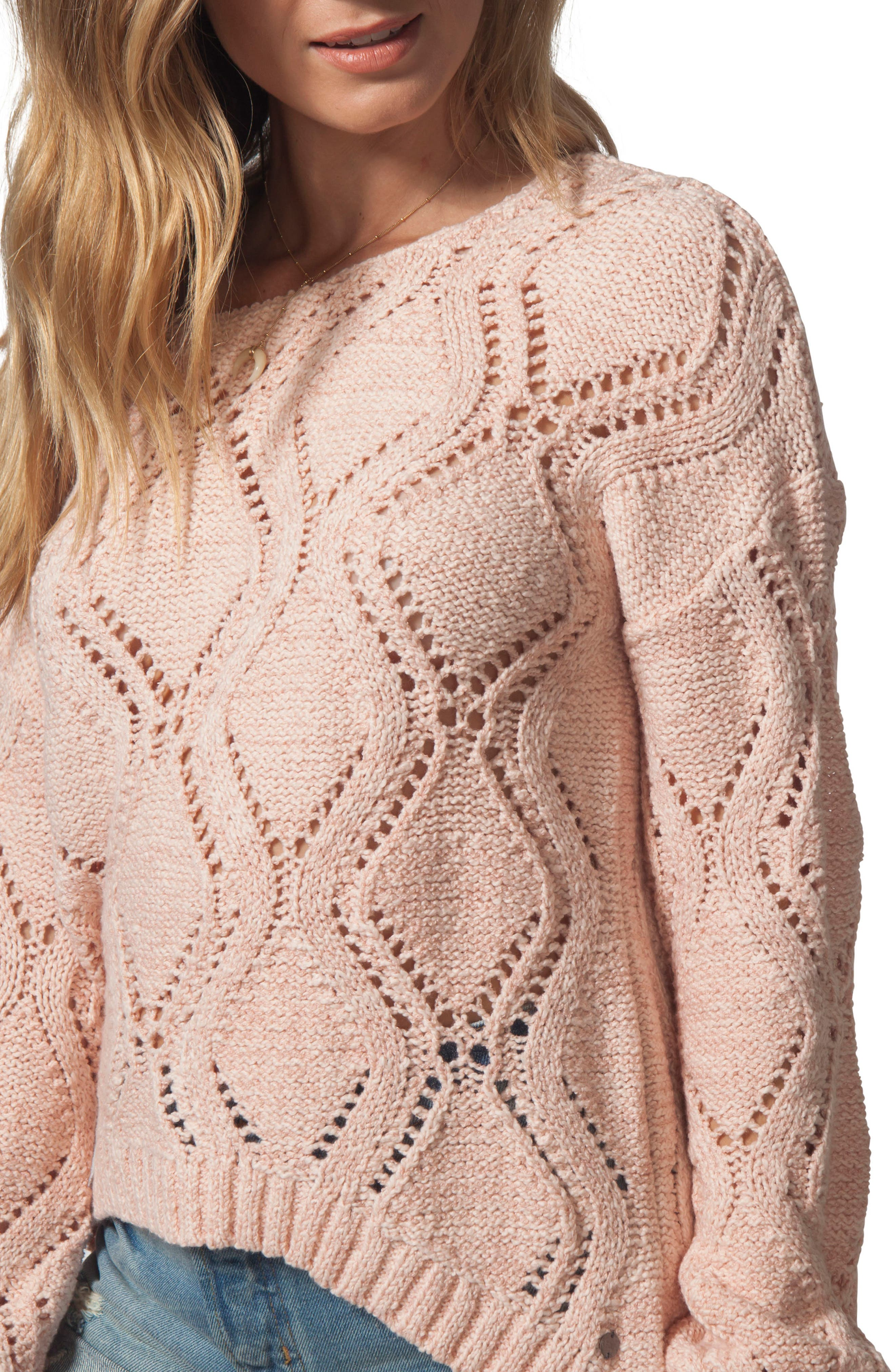 Love Spell Sweater,                             Alternate thumbnail 3, color,                             CORAL