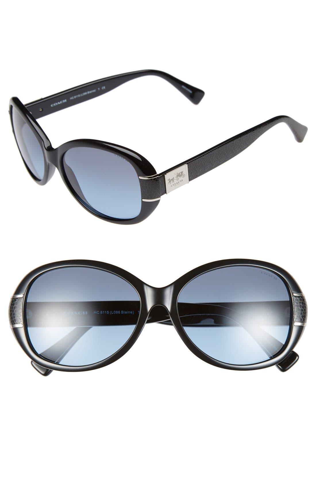 64e843c5e047 ... coupon code for coach blaine 57mm sunglasses nordstrom 22692 202d0  discount code for coach blaine hc8115 525514 garnet red oval sunglasses  rose gradient ...