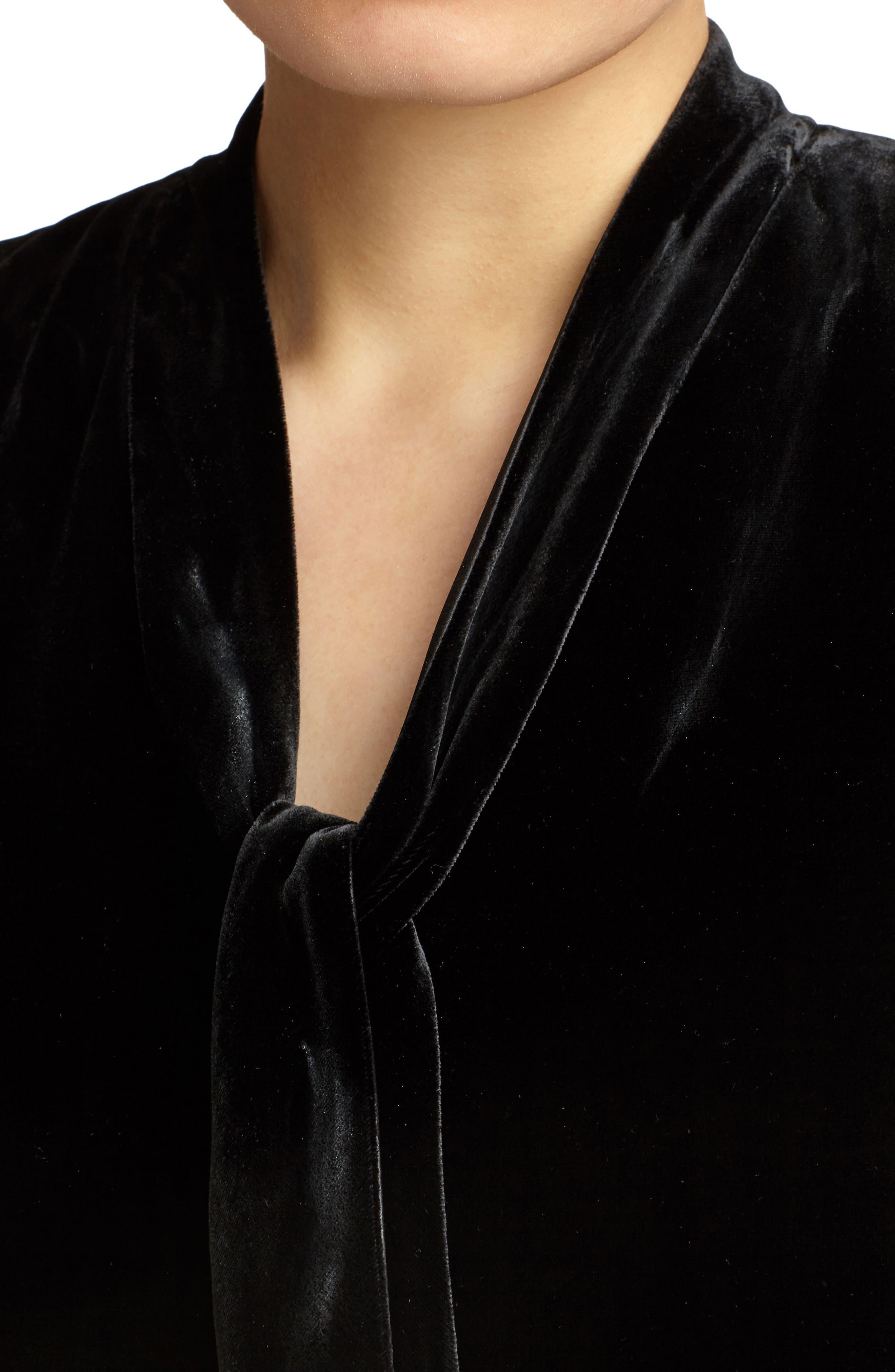 Ronan Velvet Dress,                             Alternate thumbnail 7, color,