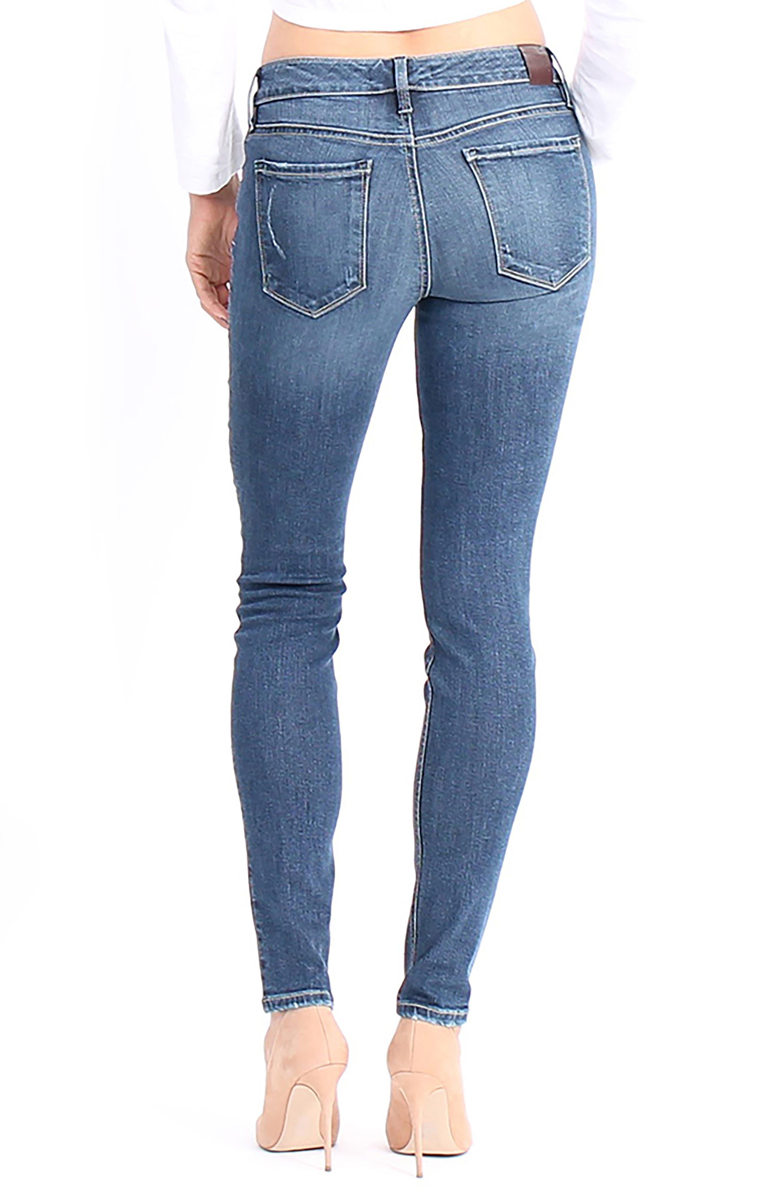 Lisa Stretch Distressed Super Skinny Jeans,                             Alternate thumbnail 2, color,                             472