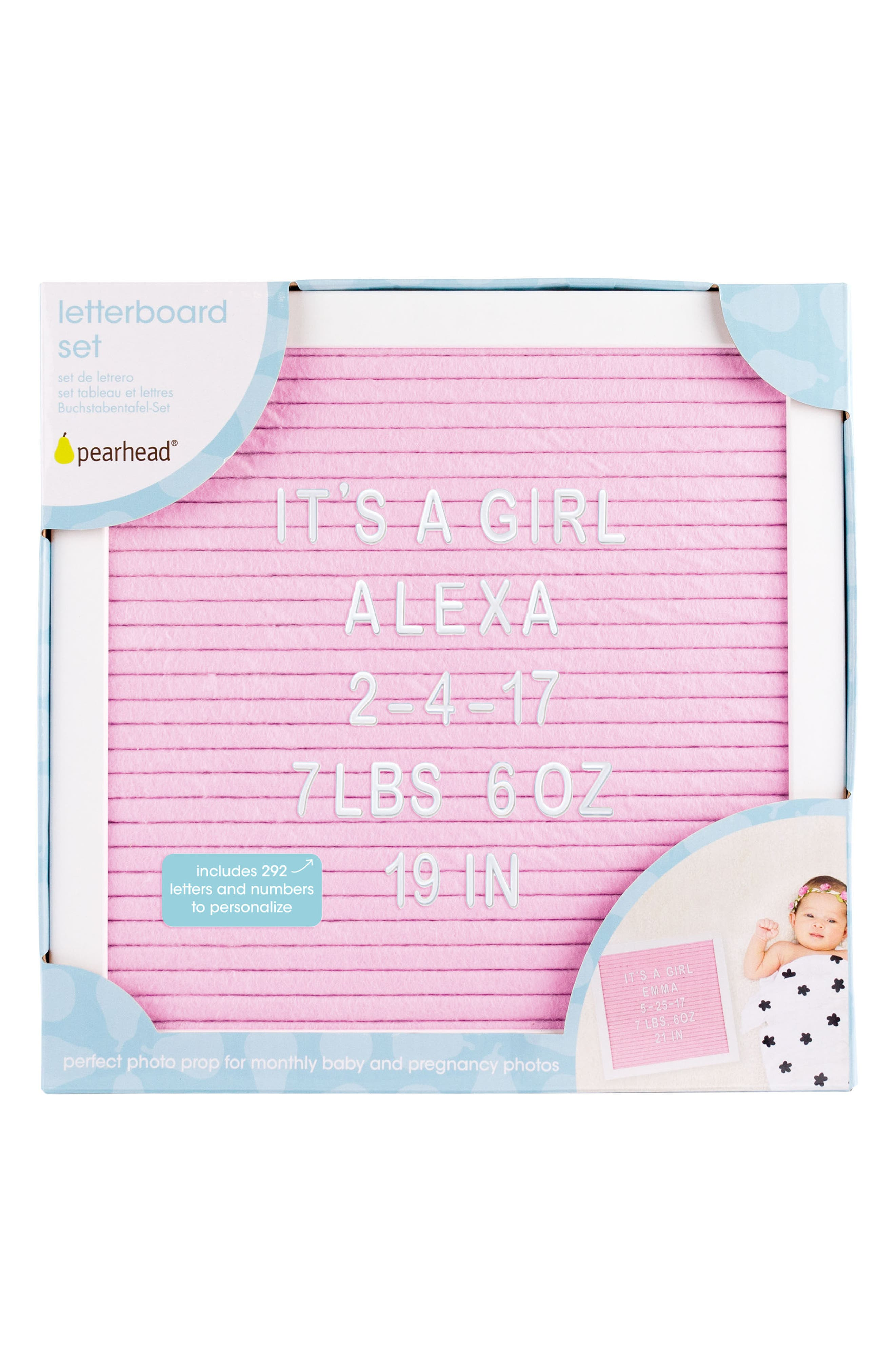 Changeable Felt Letter Board Set,                             Alternate thumbnail 2, color,                             PINK
