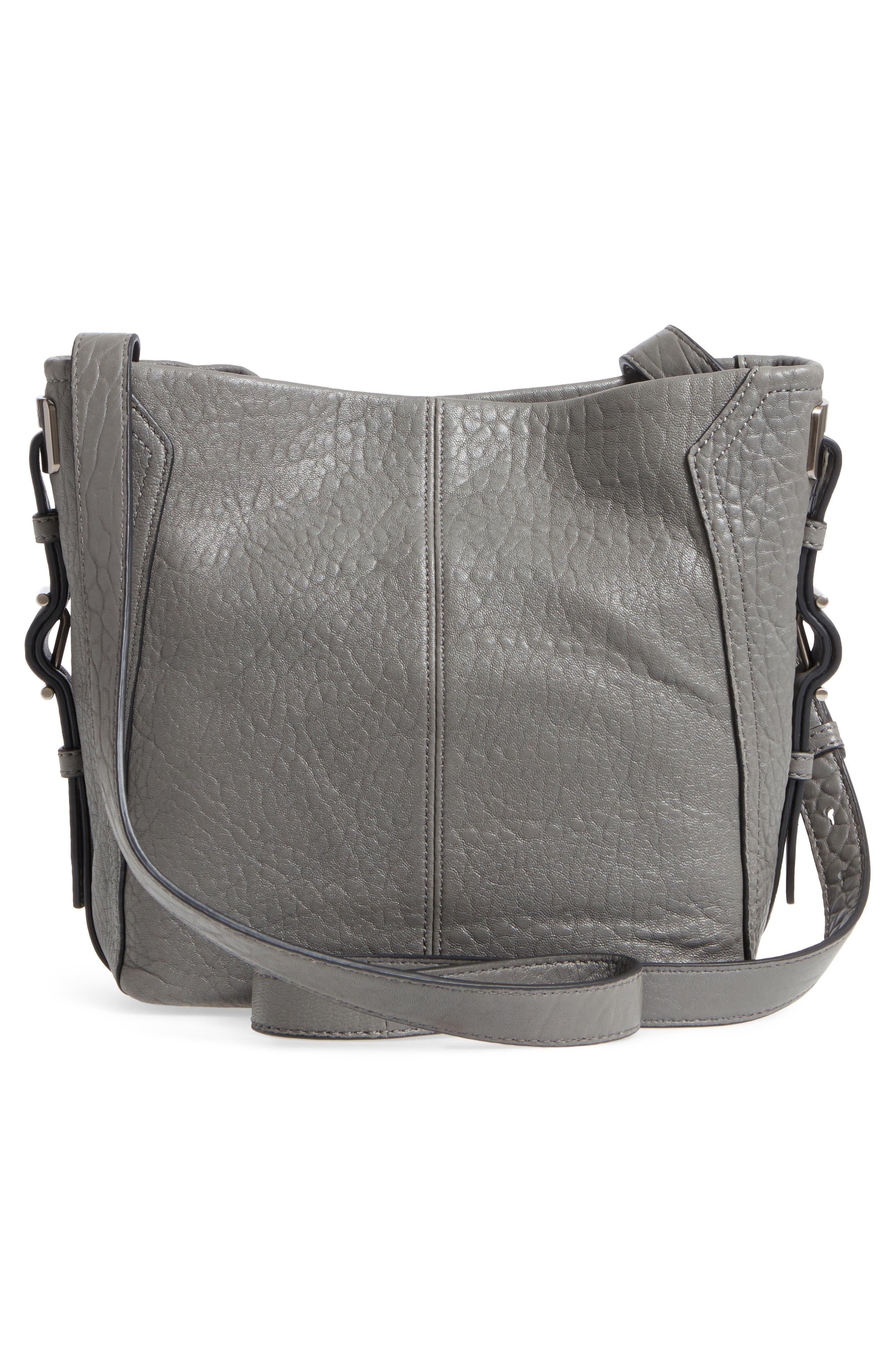 Fava Leather Bucket Bag,                             Alternate thumbnail 8, color,