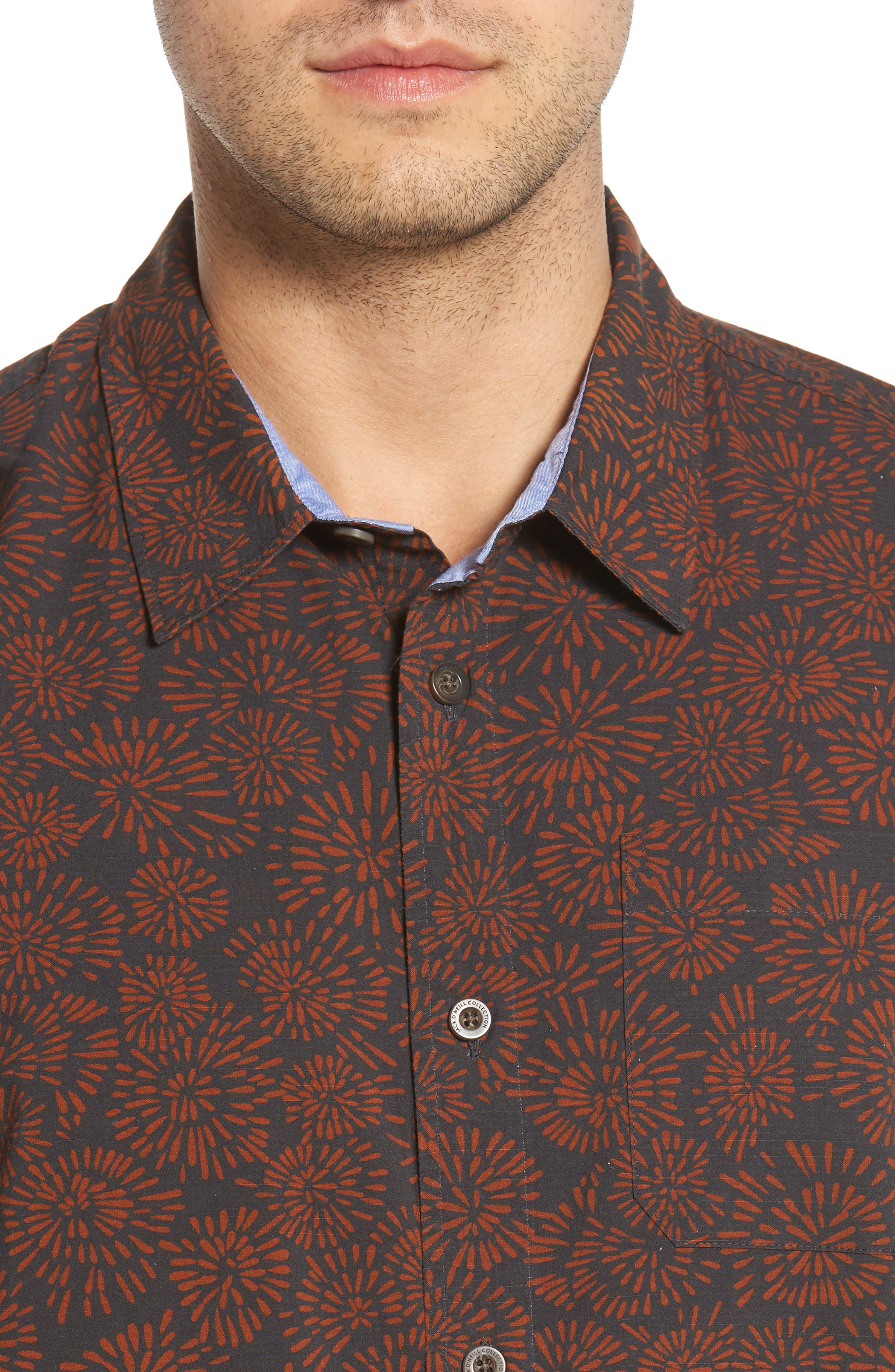Upland Print Sport Shirt,                             Alternate thumbnail 4, color,                             020