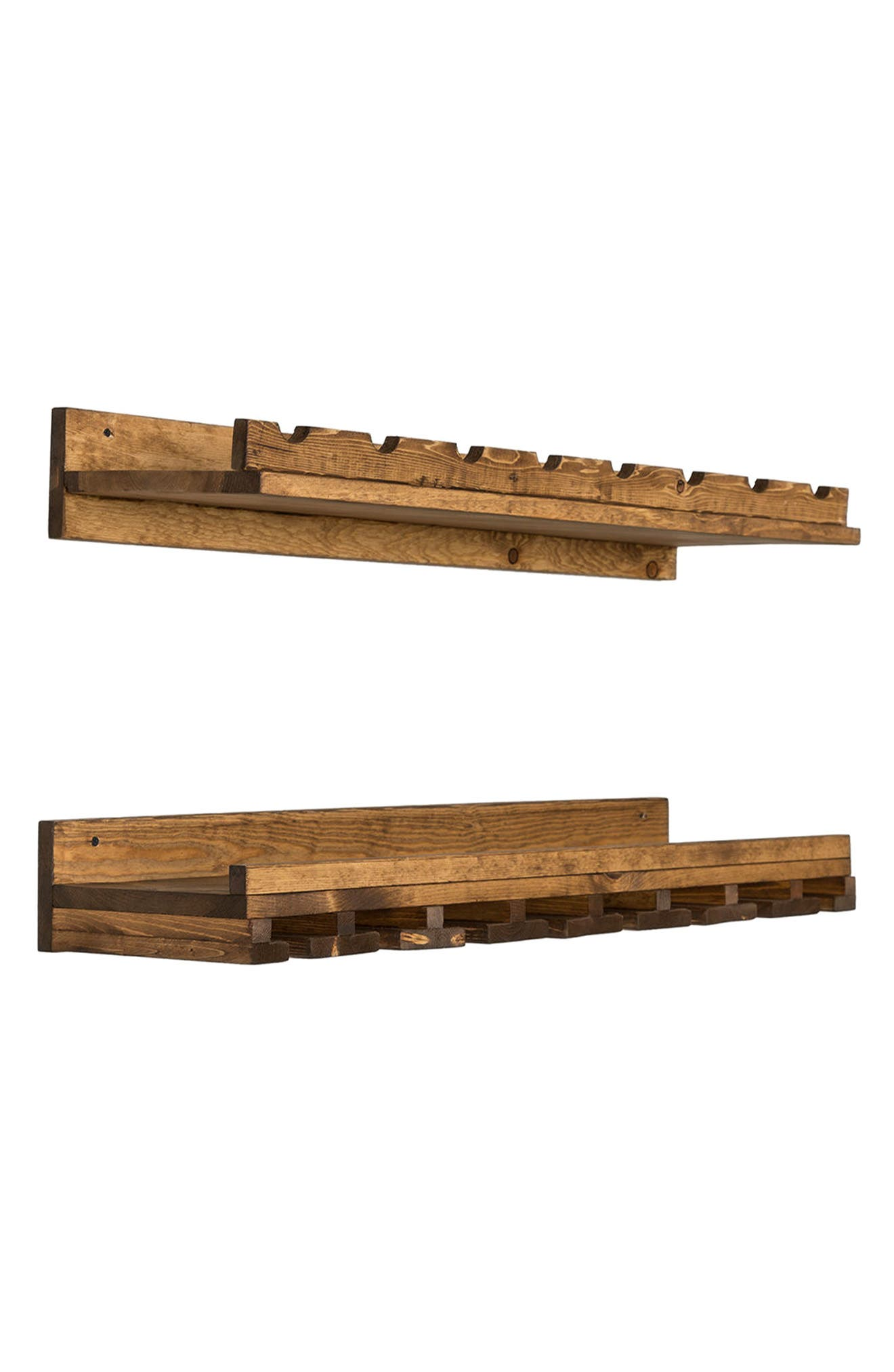 Set of 2 Pine Wood Wine Racks,                             Alternate thumbnail 2, color,                             200
