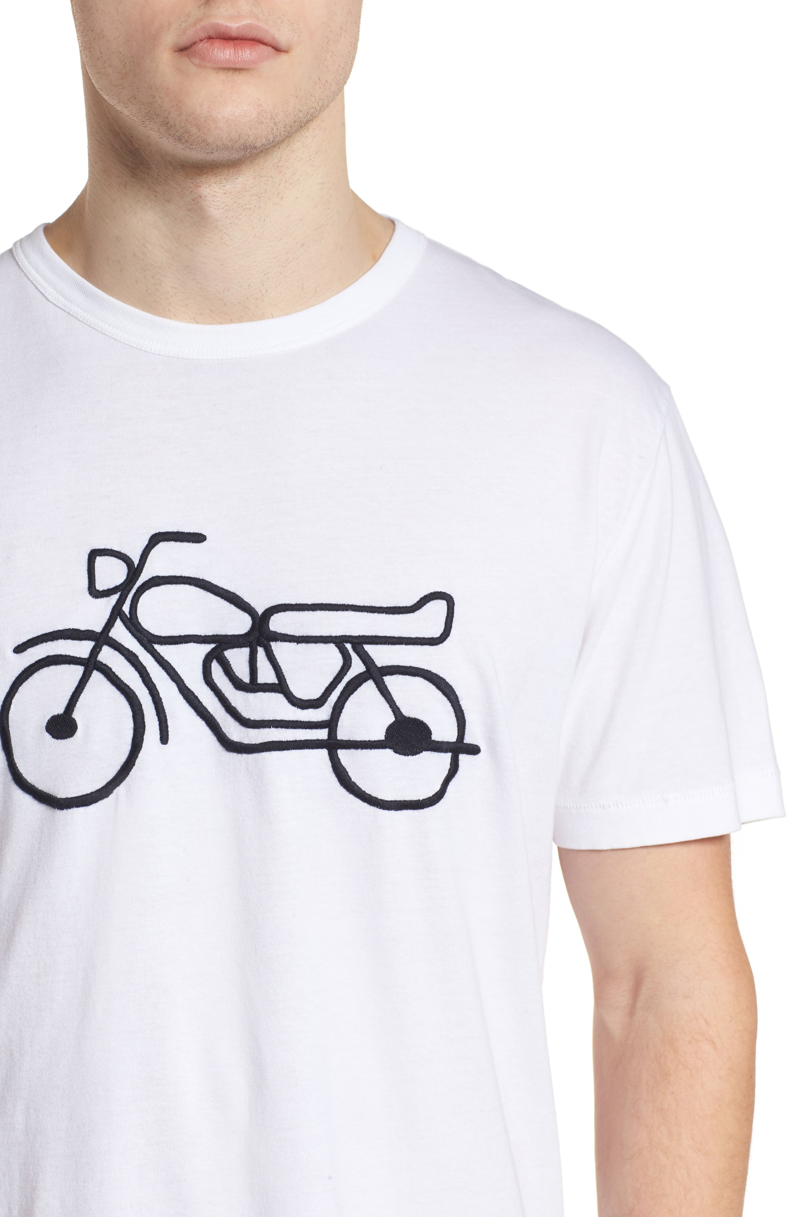 Motorcycle Crewneck T-Shirt,                             Alternate thumbnail 4, color,                             146