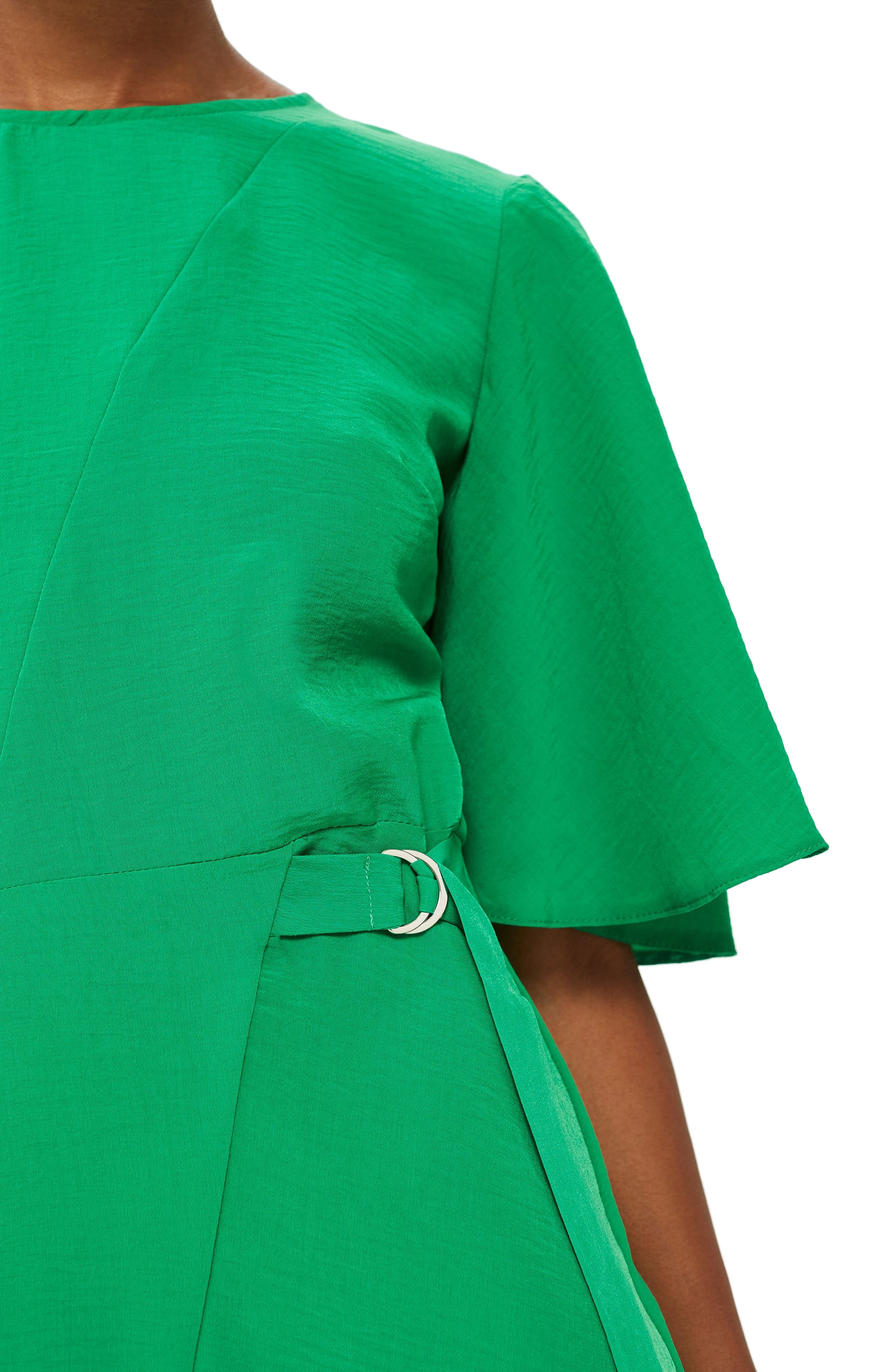 Cutabout Minidress,                             Alternate thumbnail 4, color,                             GREEN