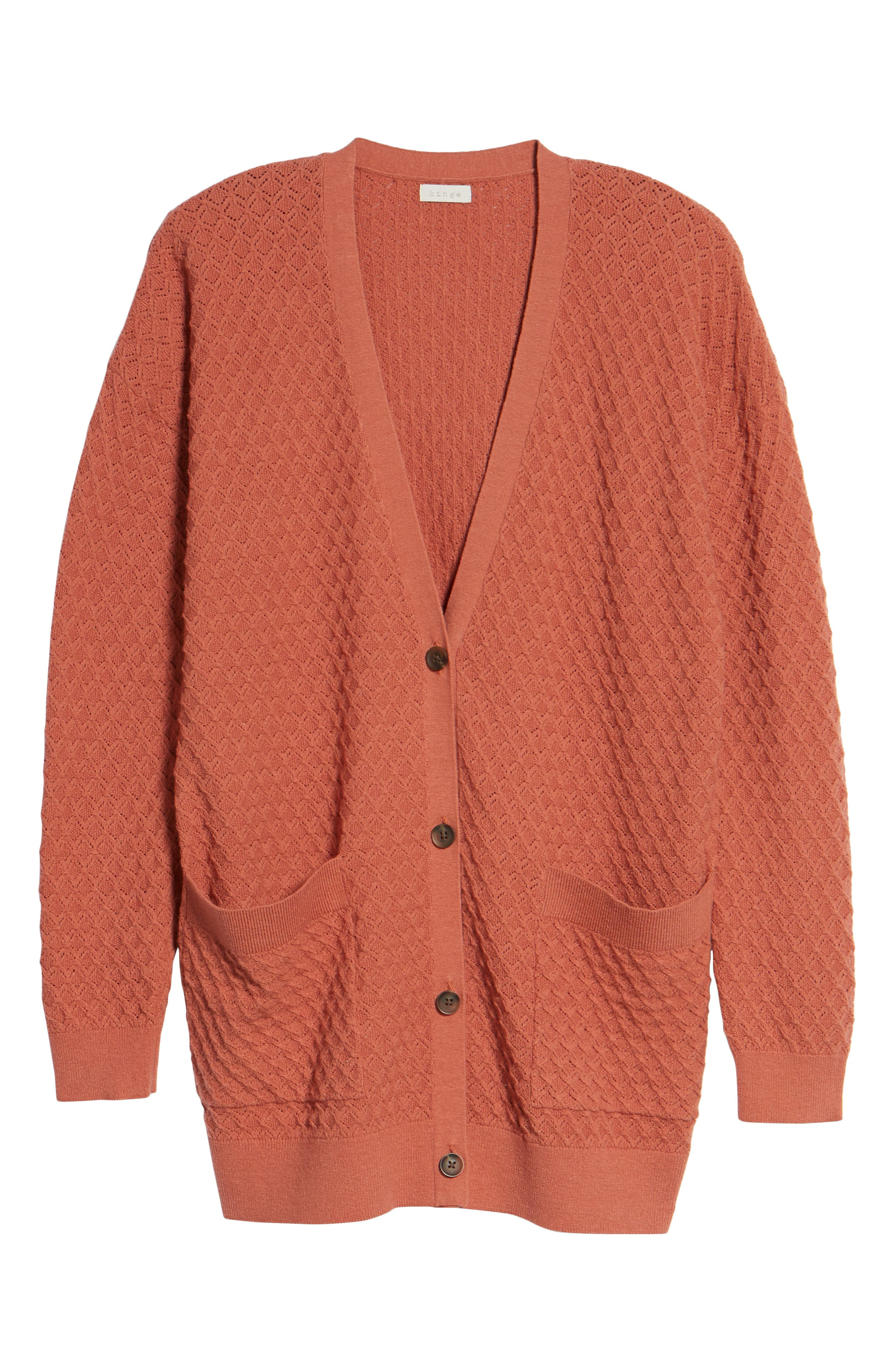 Pointelle Cardigan Sweater,                             Alternate thumbnail 24, color,