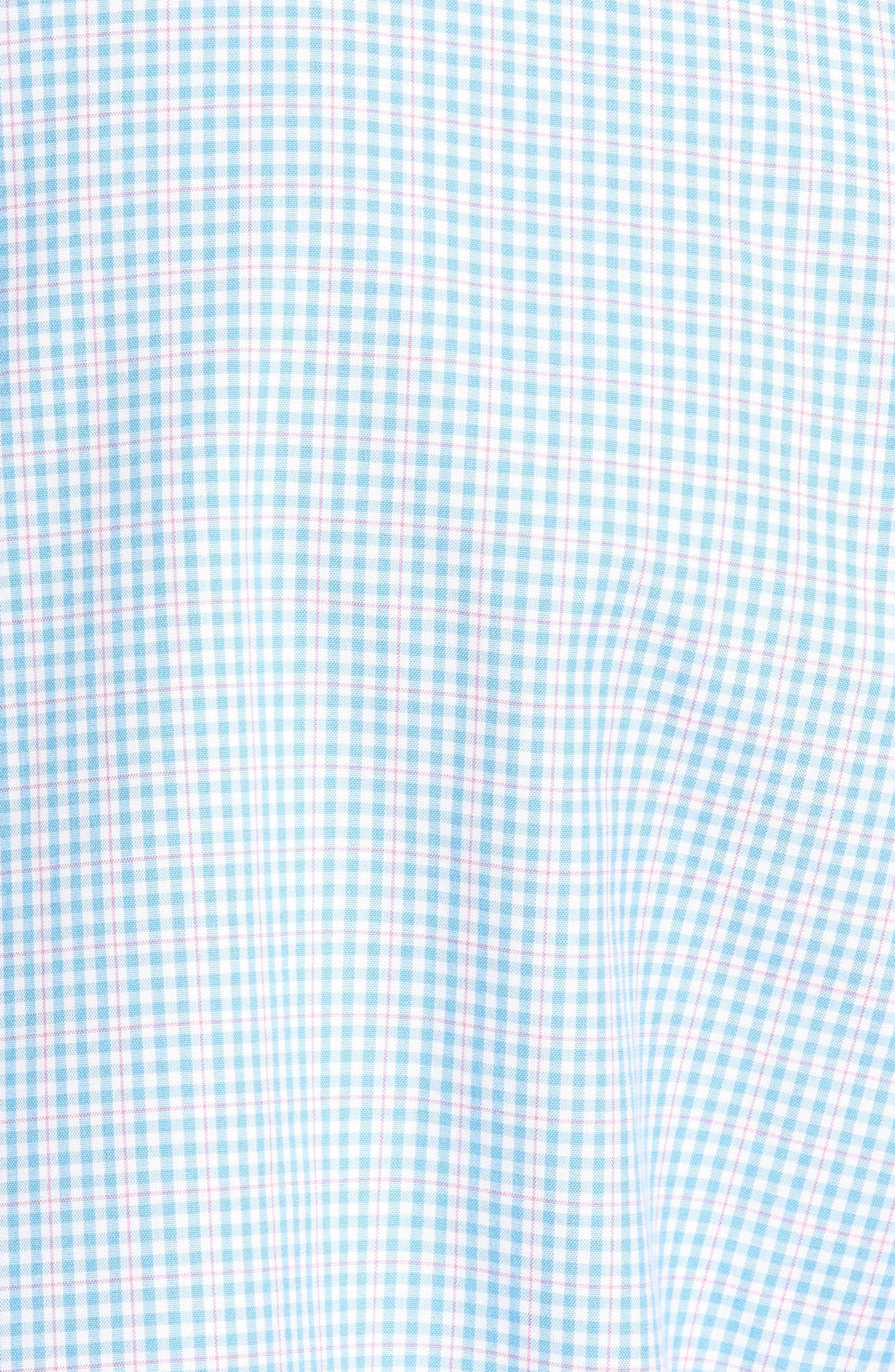 Stowaway Plaid Tucker Classic Fit Sport Shirt,                             Alternate thumbnail 5, color,                             484