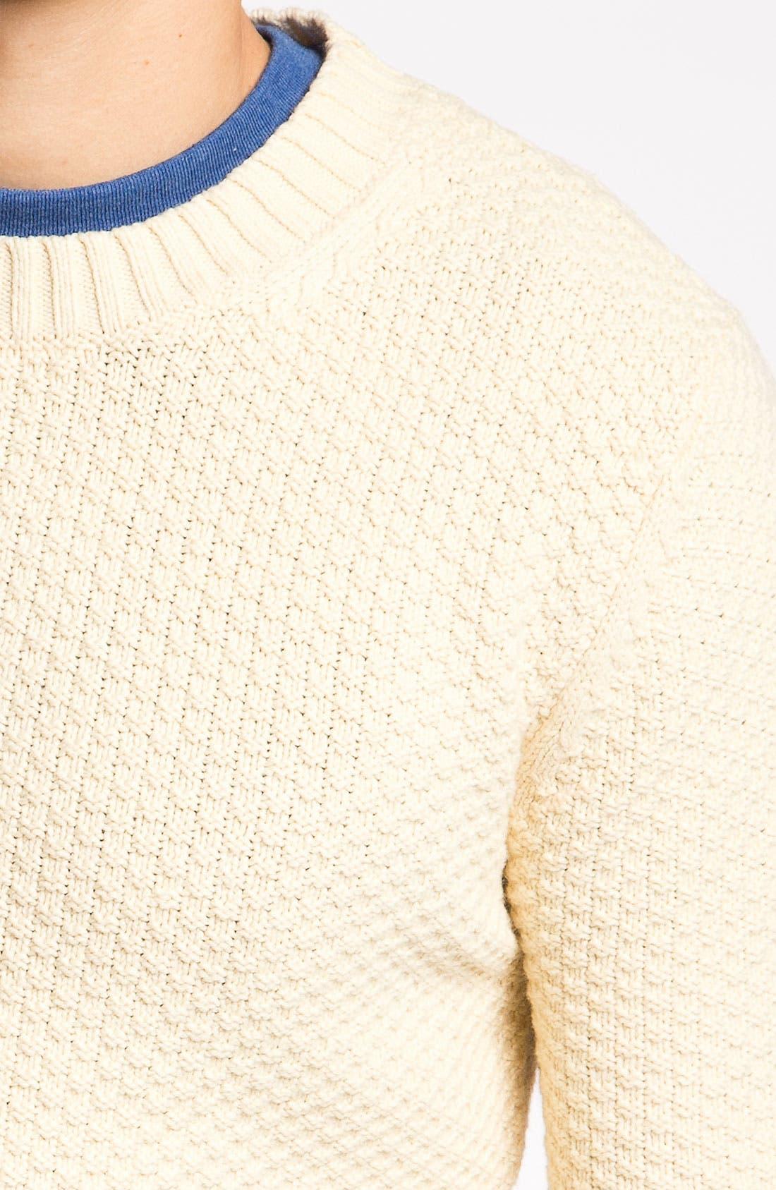 'Pineapple Knit' Sweater,                             Alternate thumbnail 3, color,                             130