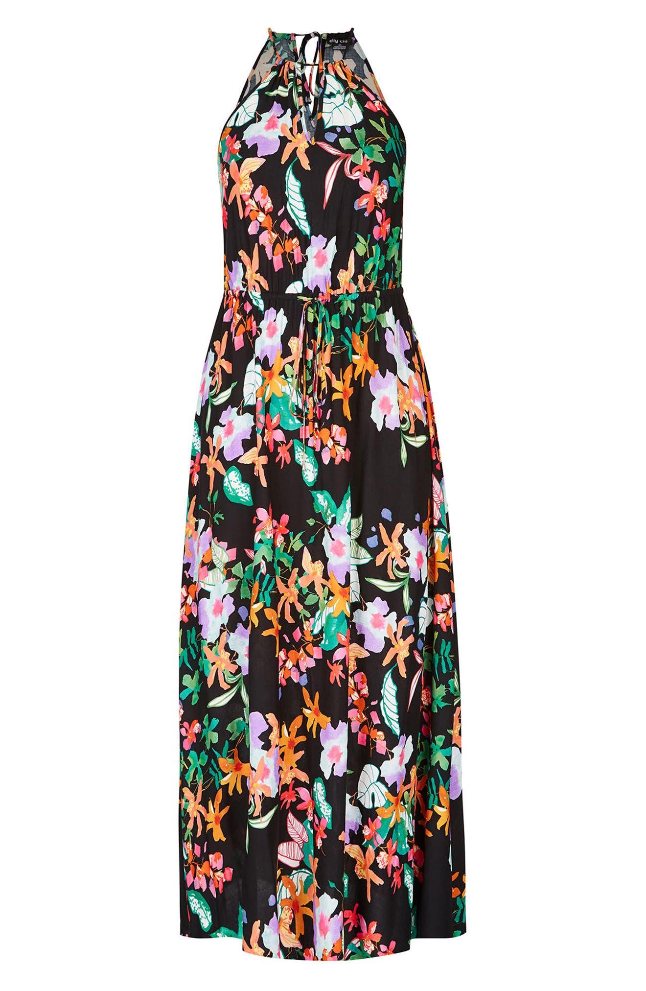Molokai Floral Maxi Dress,                             Alternate thumbnail 3, color,                             MOLOKAI FLORAL