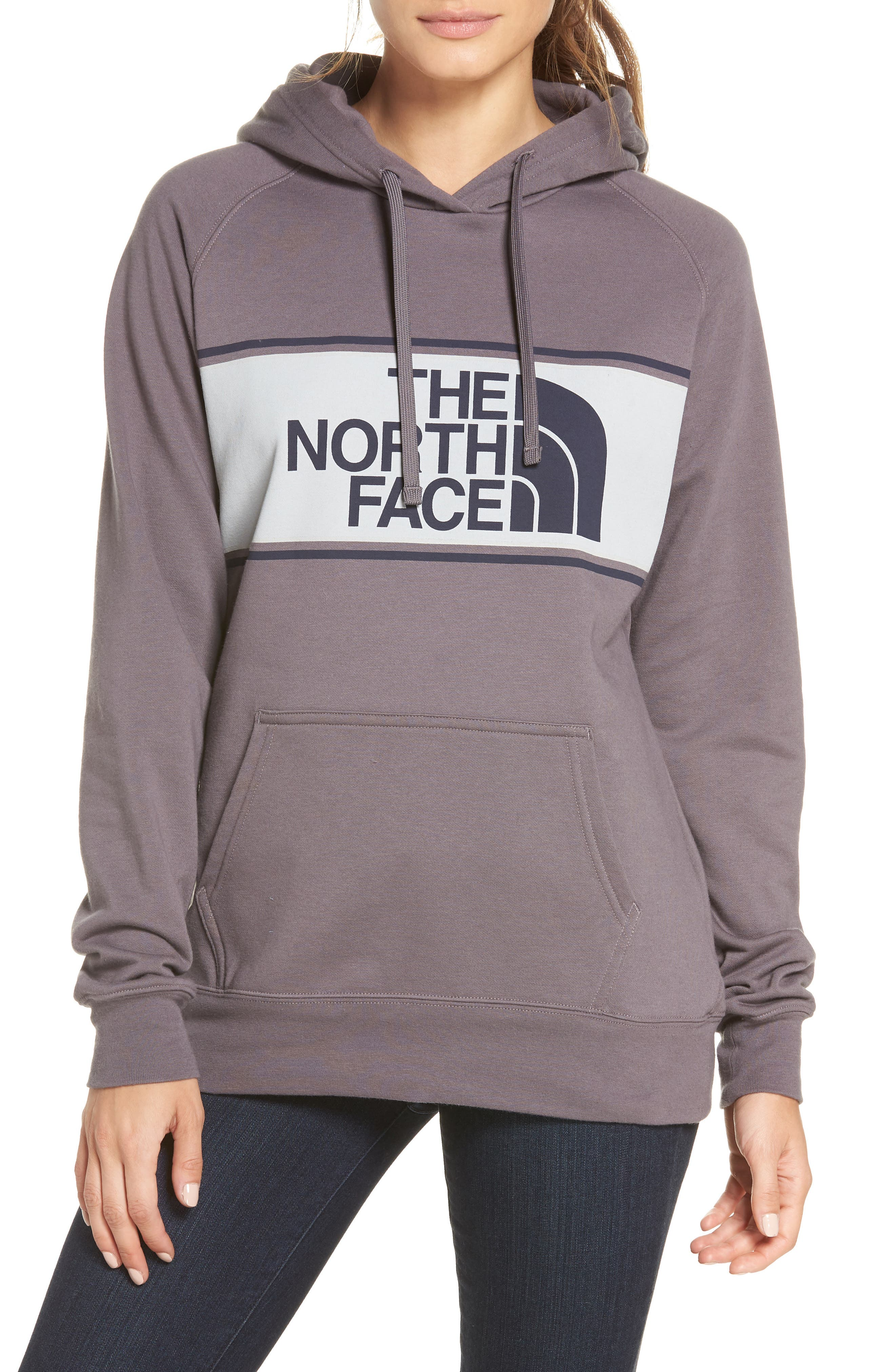 THE NORTH FACE Edge to Edge Logo Hoodie Sweatshirt, Main, color, 023
