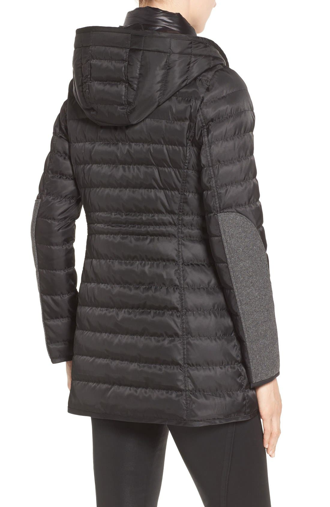 Quilted Down Coat,                             Alternate thumbnail 2, color,                             001