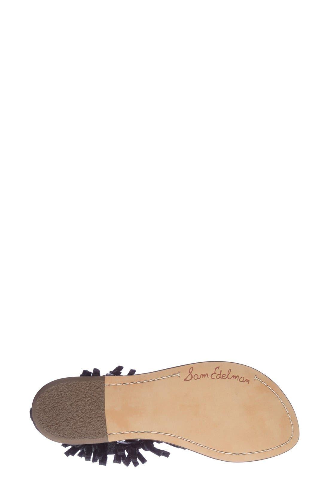 'Griffen' Fringe Sandal,                             Alternate thumbnail 2, color,                             001